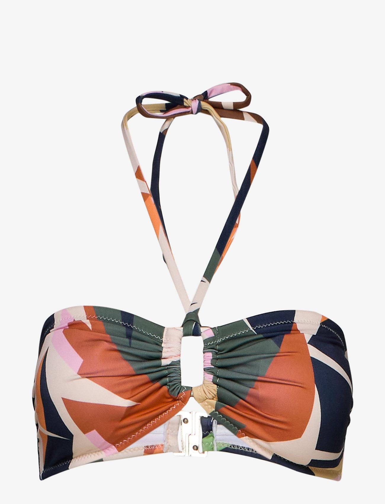 Gestuz - ArtyGZ bikini top - bikini overdele - pink multi art - 1