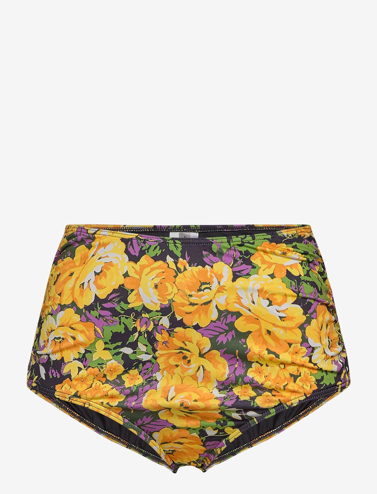 Gestuz - ArtyGZ bikini bottom - bikini underdele - yellow flower garden - 0