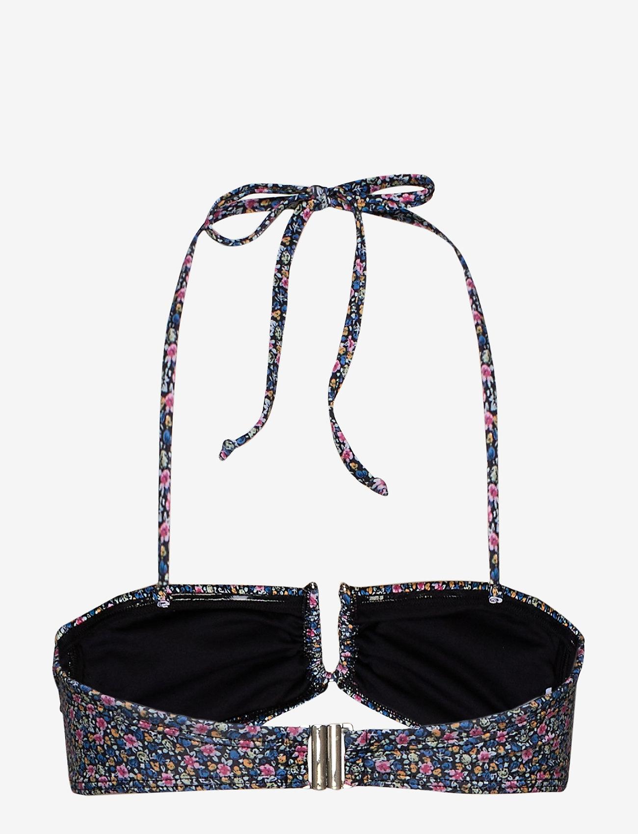 Gestuz - CanaGZ bikini top - bikini overdele - small flower black - 1