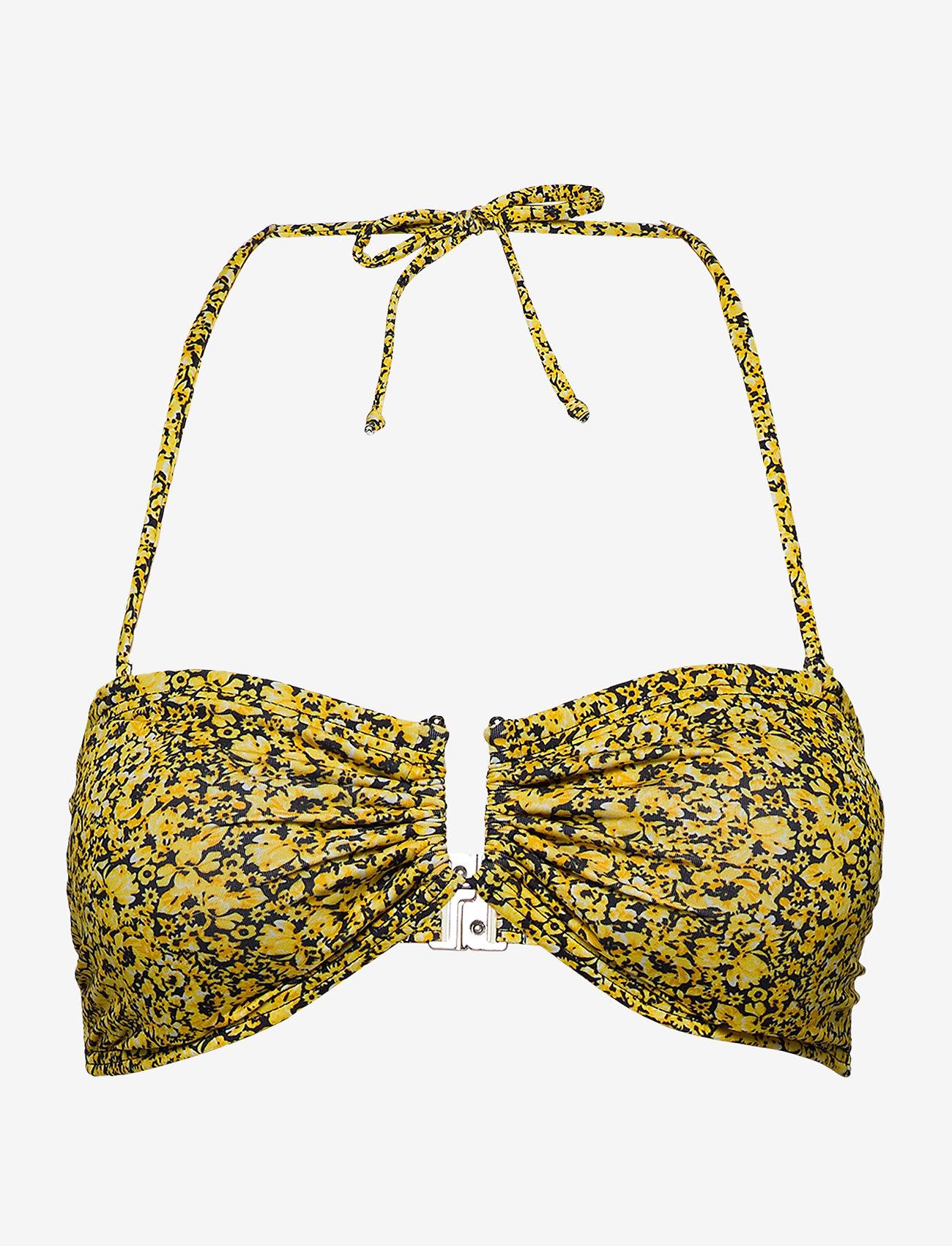 Gestuz - CanaGZ bikini top - bikini overdele - yellow mini flower - 0
