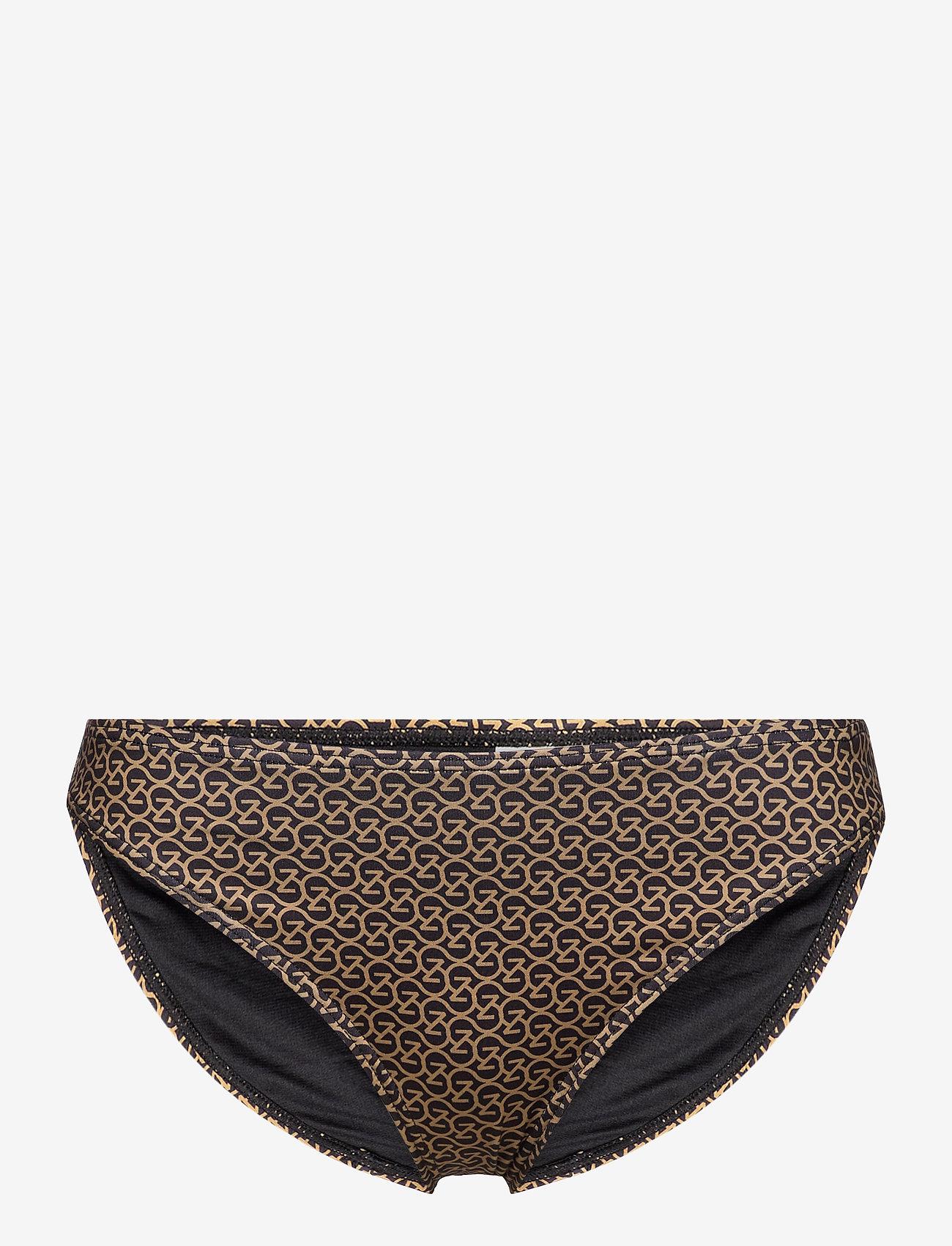 Gestuz - CanaGZ bikini bottom - bikini underdele - brown logo - 1