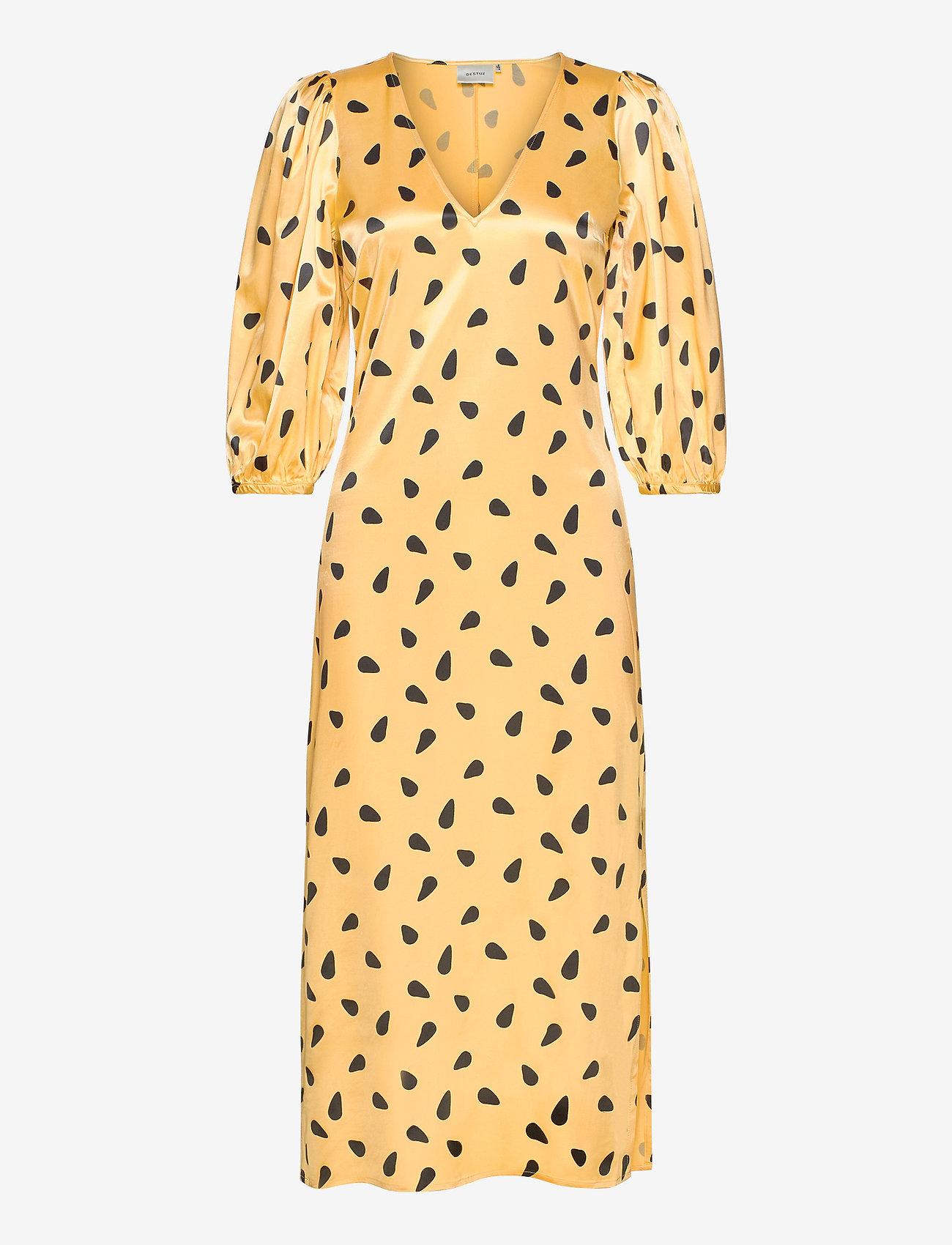 Lutillegz Dress Hs20 (Yellow Black Dot) - Gestuz k23dOn