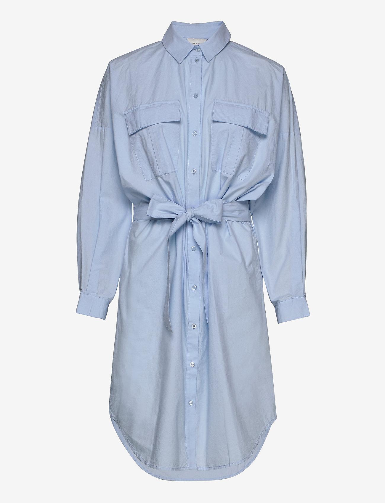 Gestuz - StaliaGZ OZ shirt dress - midi kjoler - xenon blue - 1