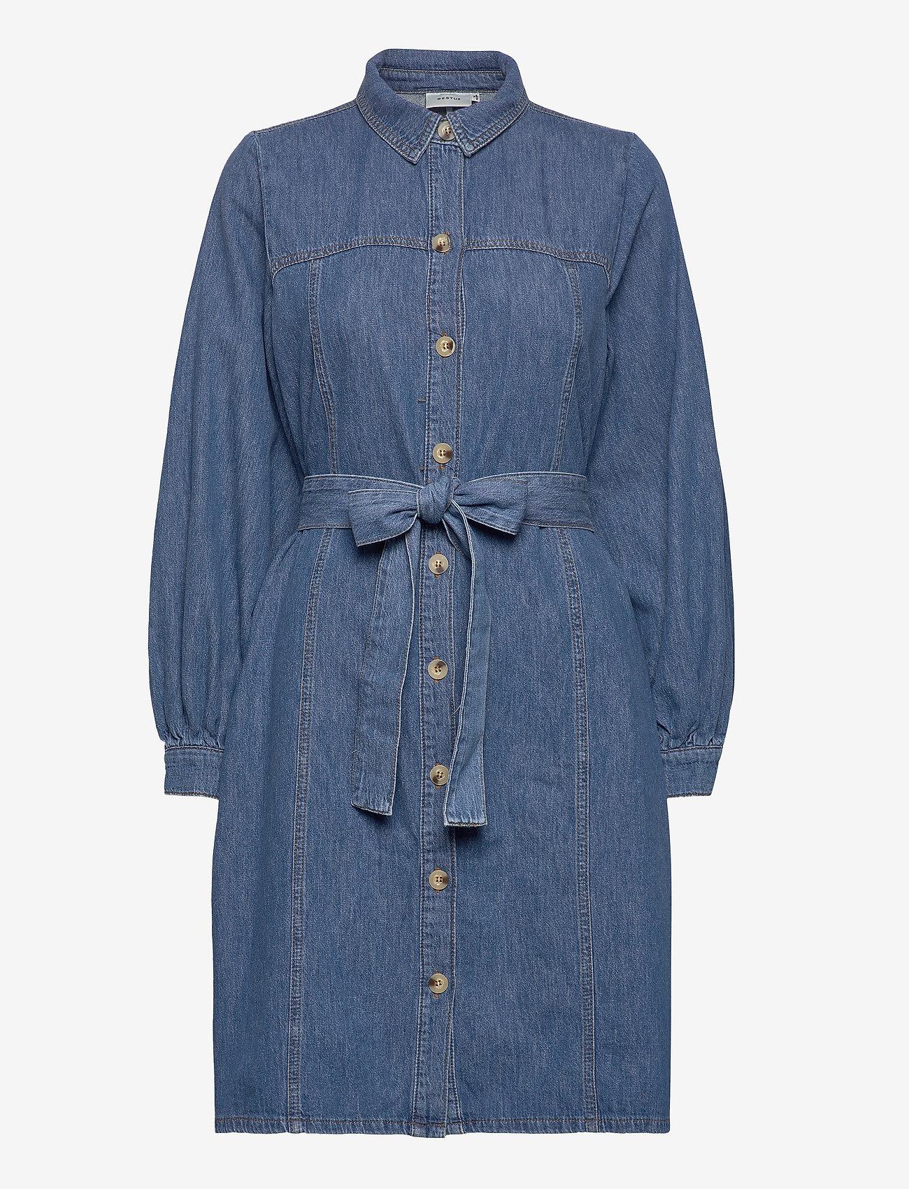 Gestuz - KayoGZ dress AO20 - shirt dresses - l.a. blue - 0
