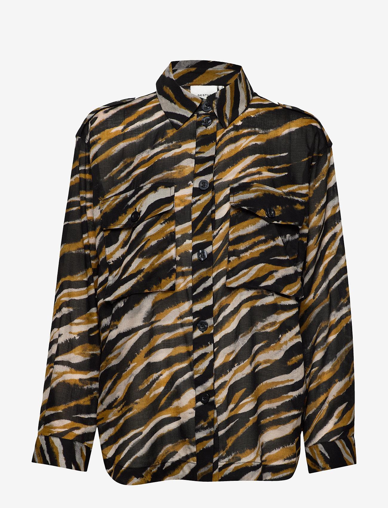 Gestuz - CrisantaGZ shirt AO20 - chemises à manches longues - army tiger - 0