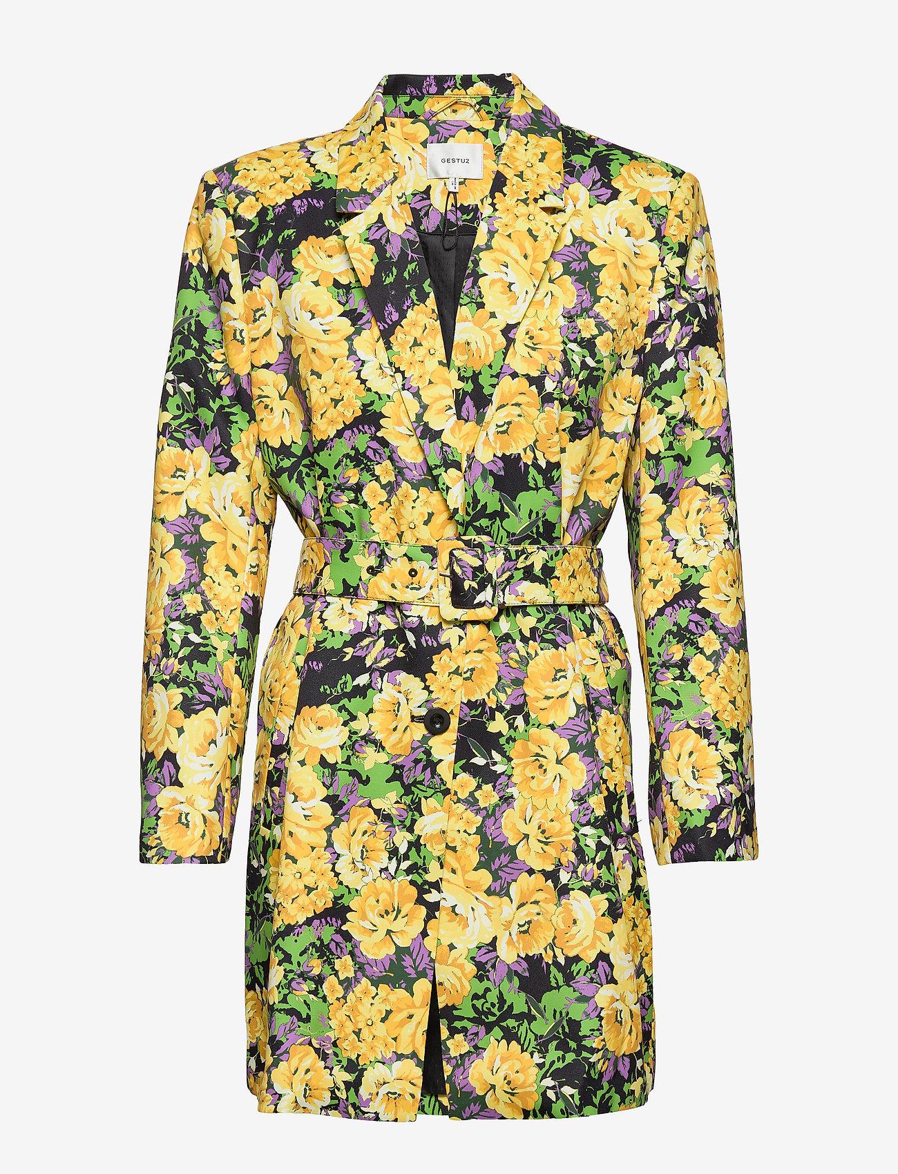 Gestuz - FleurGZ blazer AO20 - blazere - yellow flower garden - 0