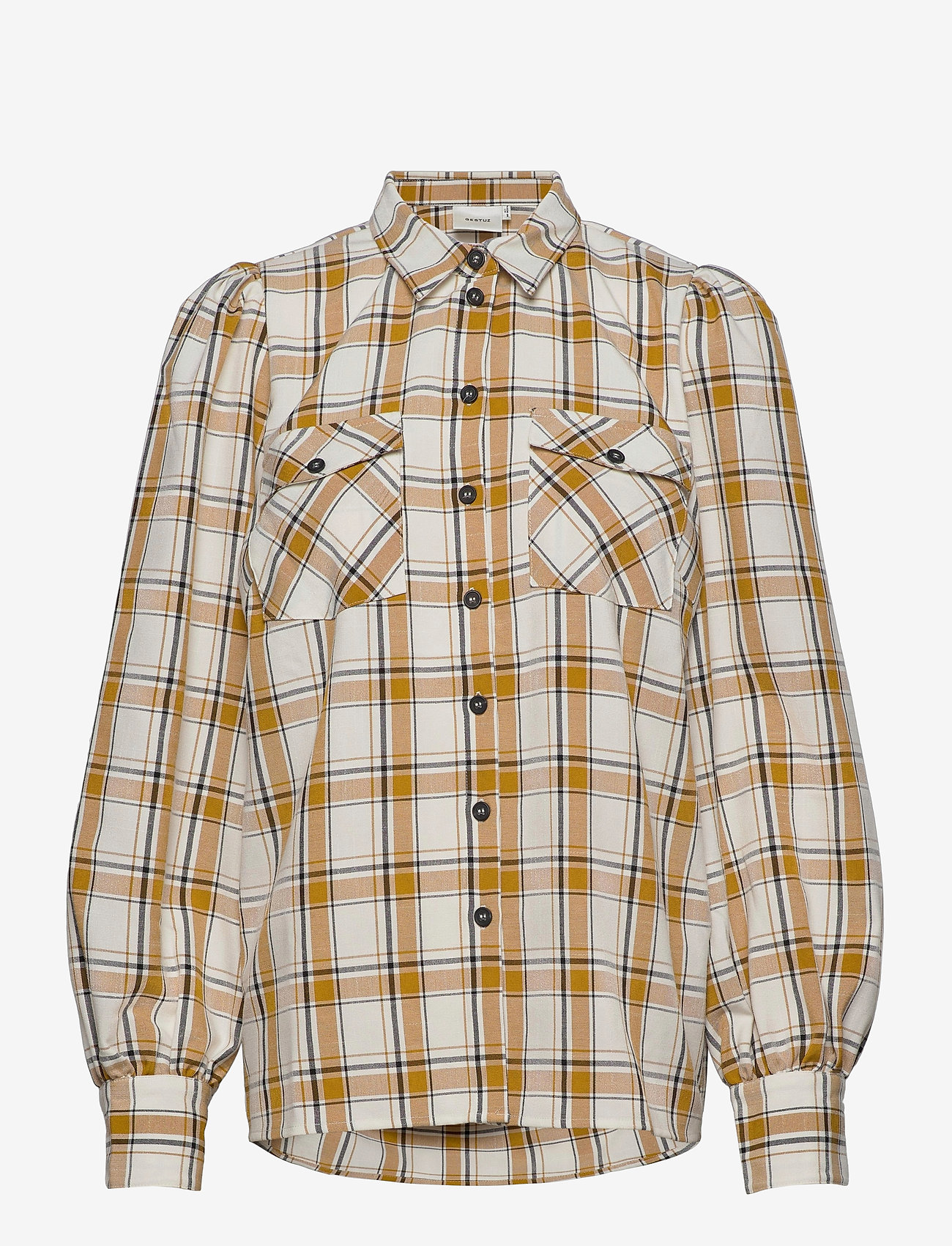 Gestuz - ChloeGZ ls shirt AO20 - chemises à manches longues - yellow check - 0