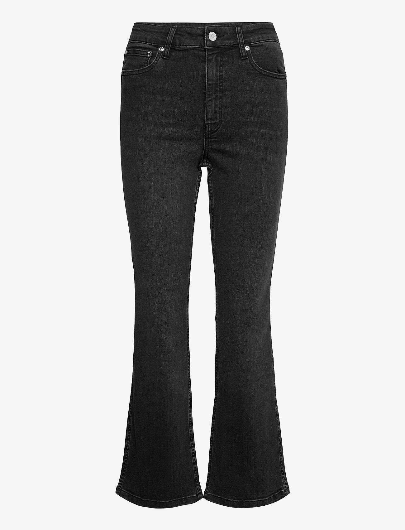 Gestuz - EmilindaGZ HW 7/8 flared pants NOOS - schlaghosen - washed grey - 1