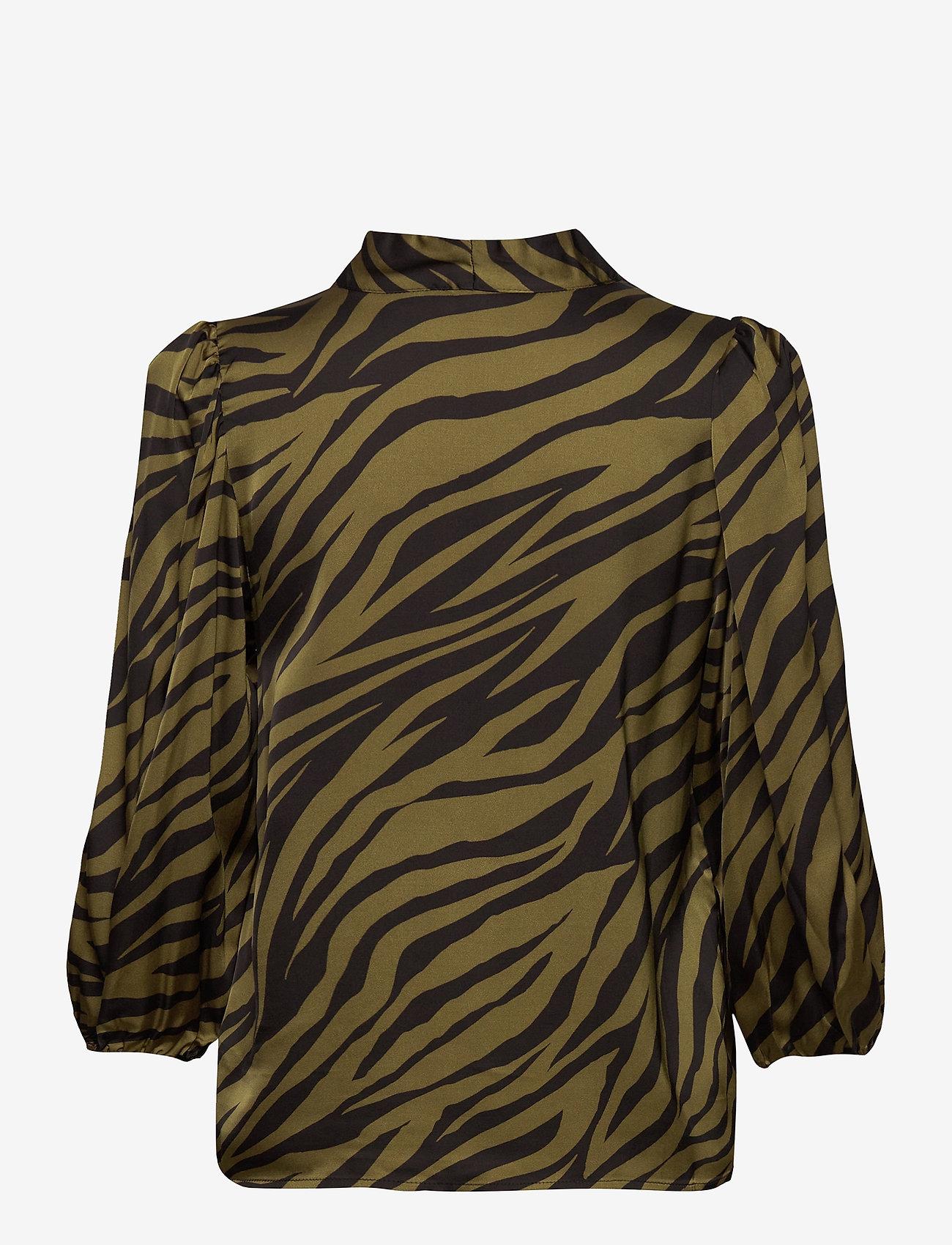 Gestuz - NadjaGZ blouse BZ - langærmede bluser - army animal - 1