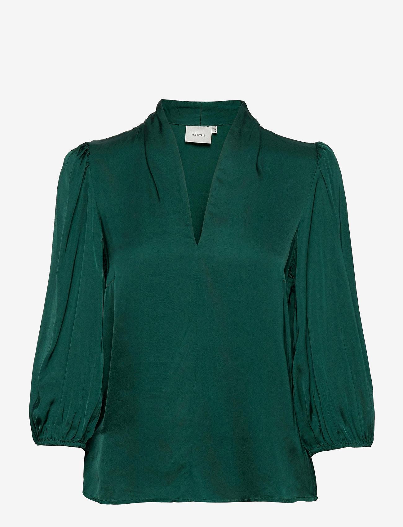 Gestuz - NadjaGZ blouse BZ - langærmede bluser - rain forest - 0