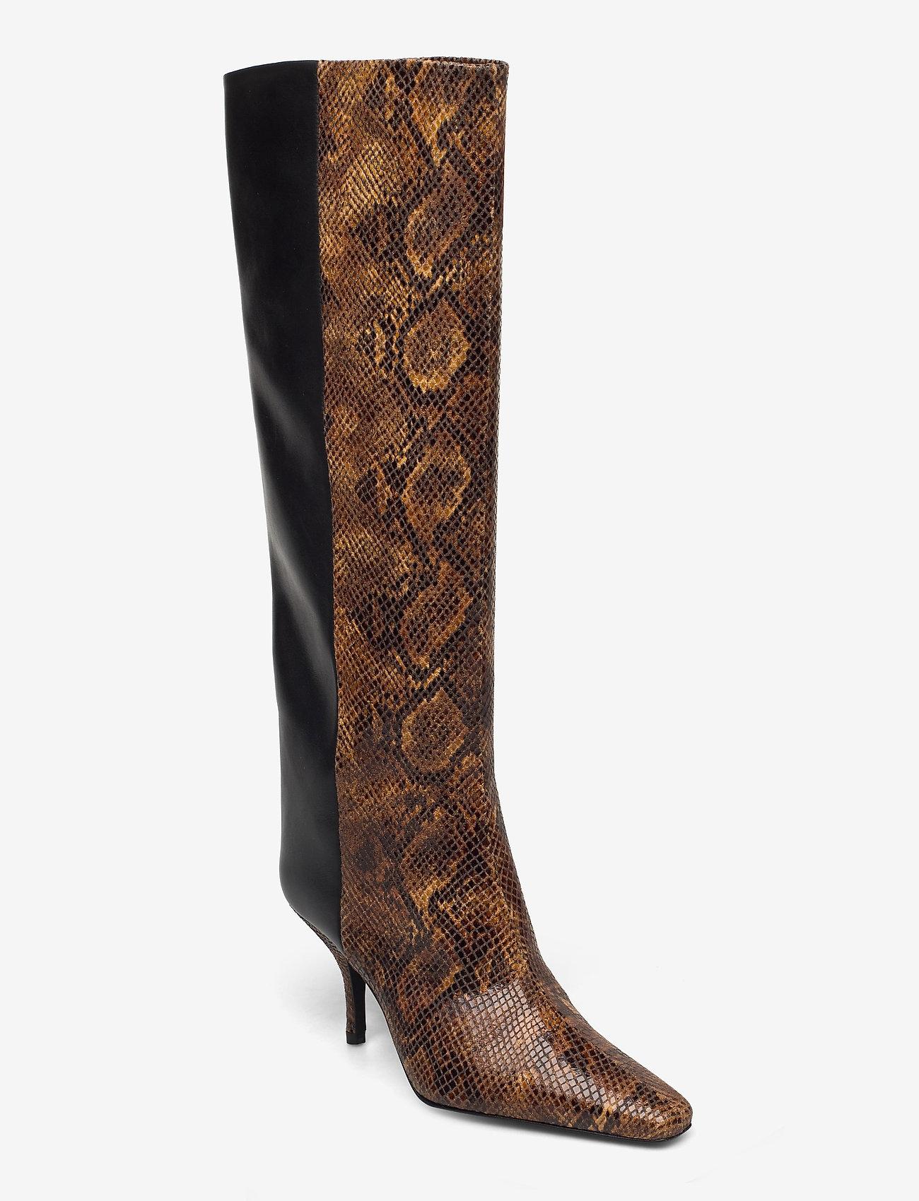 Gestuz - CianaGZ boots MA20 - höga stövlar - brown embossed - 0