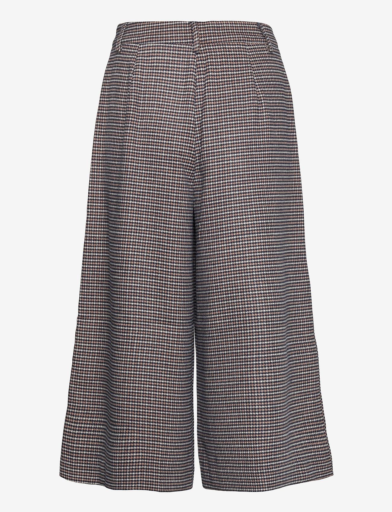 Gestuz - VivGZ long shorts MA20 - bukser med brede ben - brown check - 1