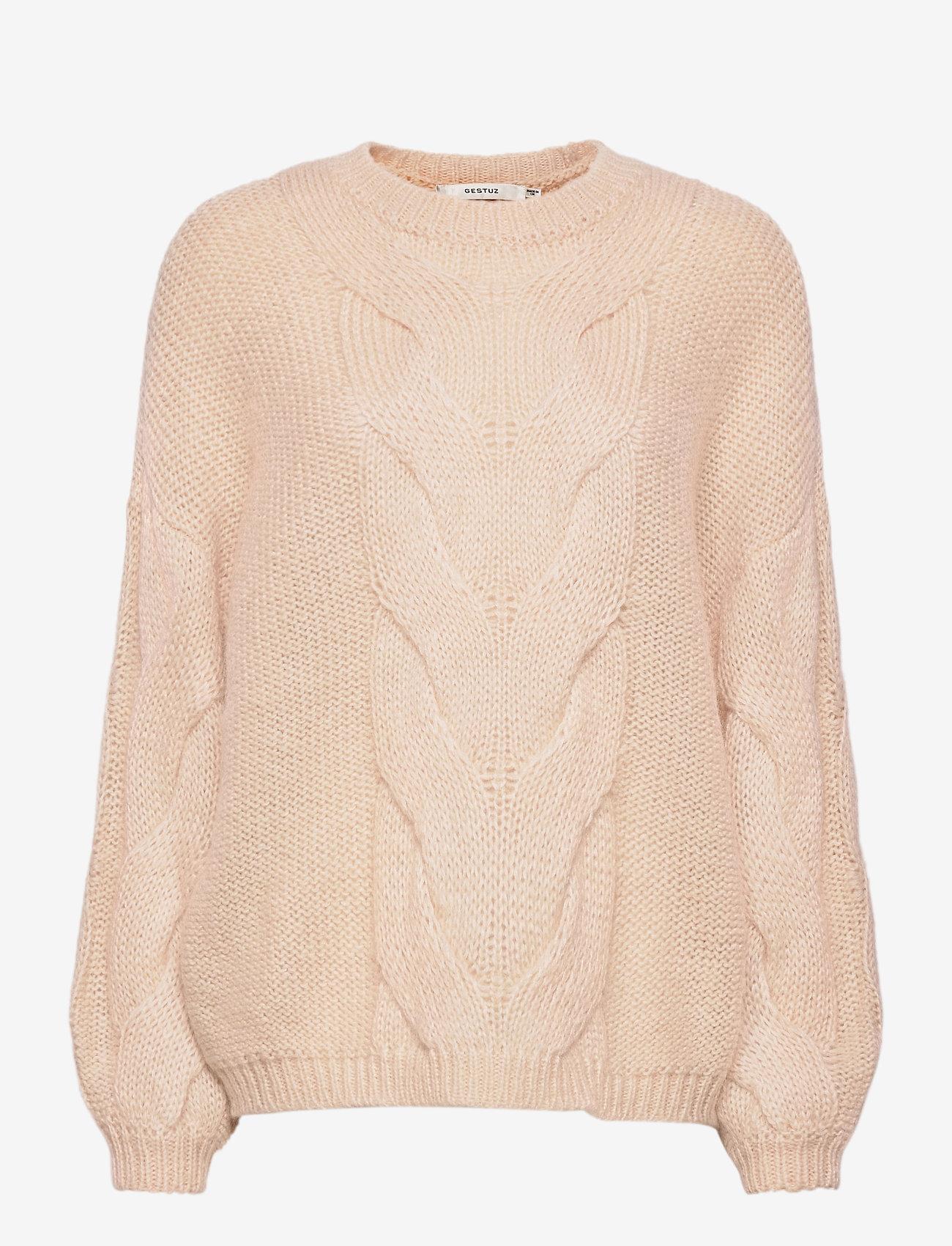 Gestuz - AnuraGZ pullover MA 2020 - trøjer - pumice stone - 0