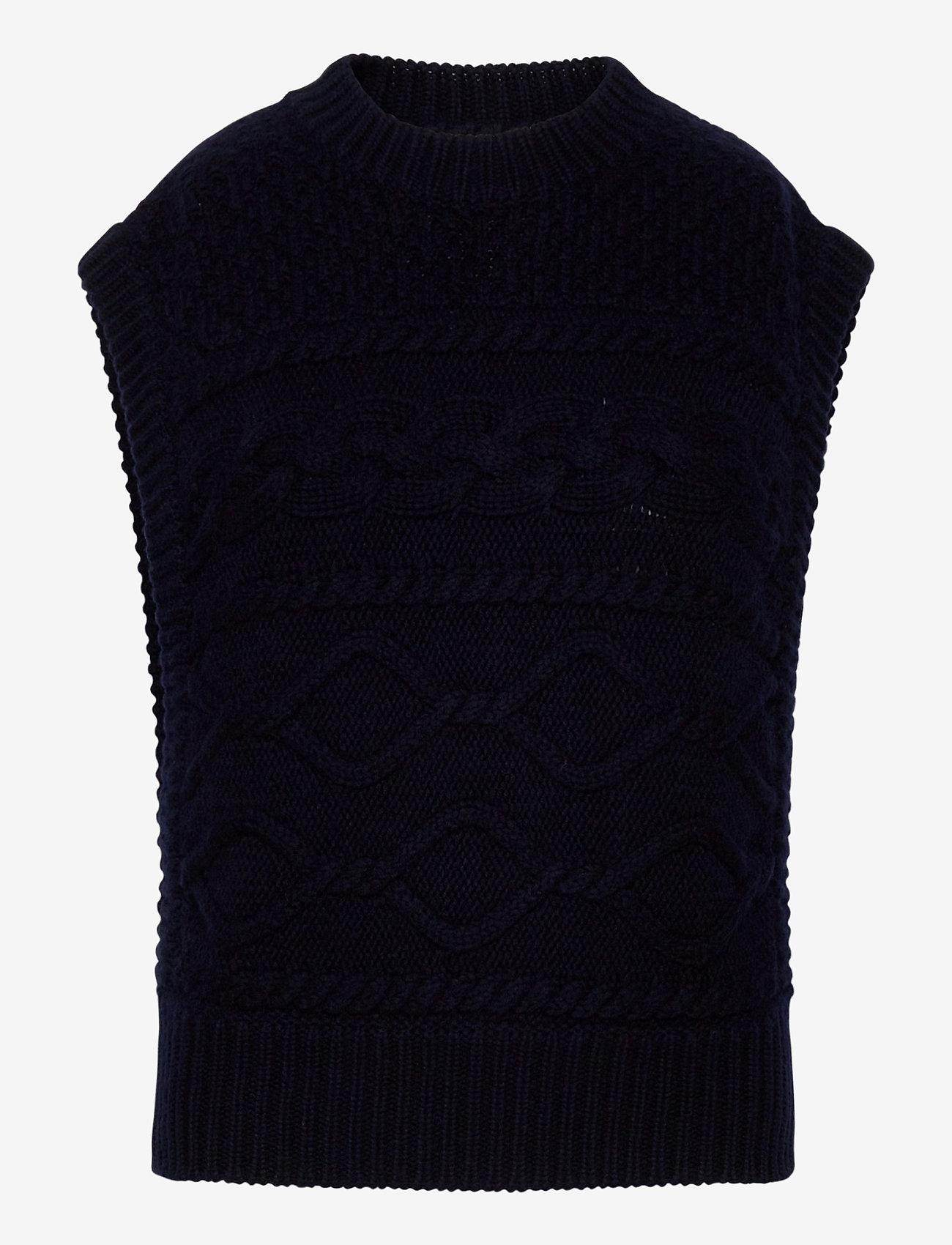 Gestuz - LupiaGZ waistcoat - strikveste - navy - 0