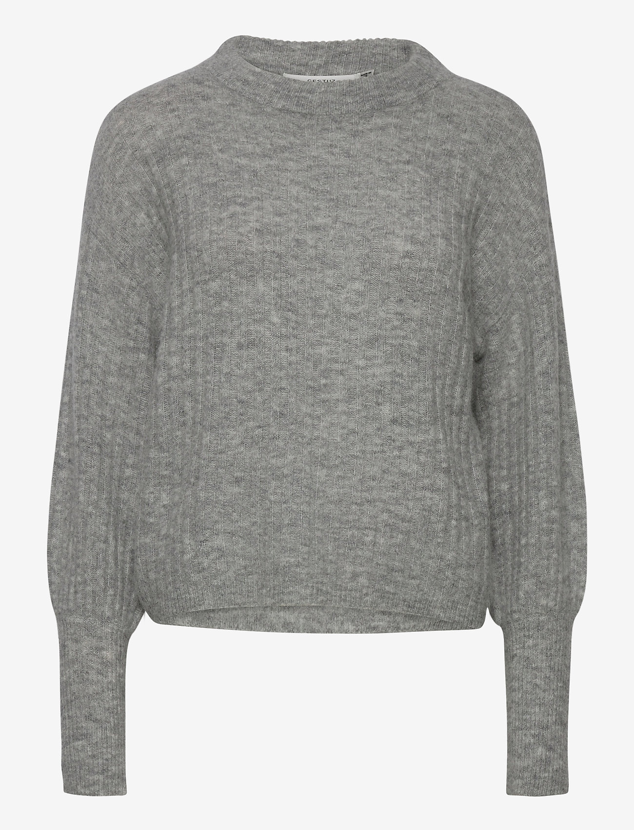 Gestuz - AlpiaGZ pullover NOOS - trøjer - high-rise grey melange - 1