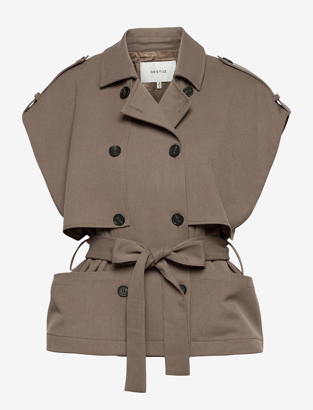 Gestuz - AbiGZ waistcoat SO21 - puffer vests - earth - 1