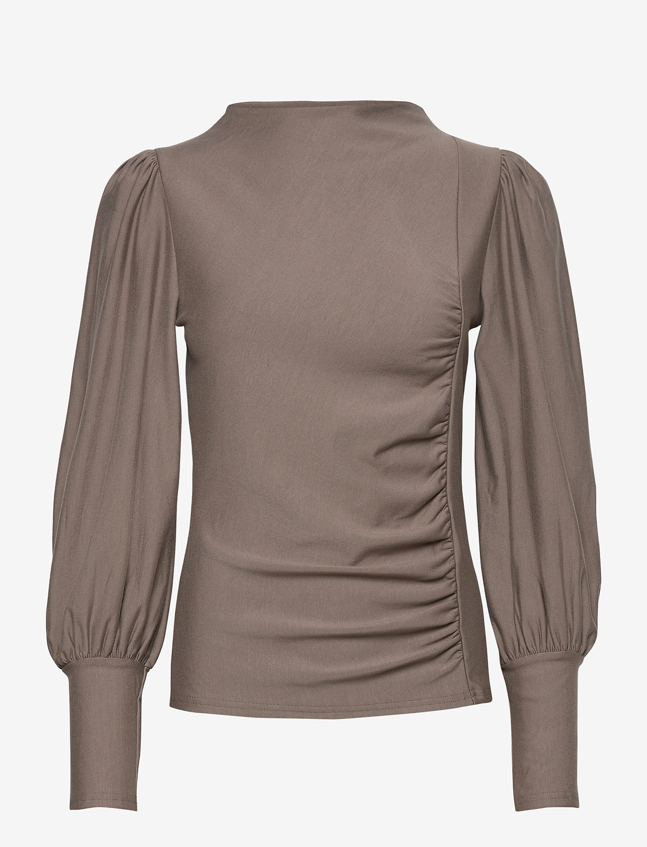 Gestuz - RifaGZ puff blouse - langærmede bluser - earth - 1