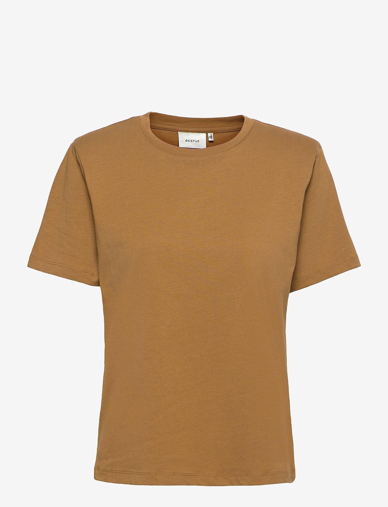 Gestuz - JoryGZ tee - t-shirts - bone brown - 1