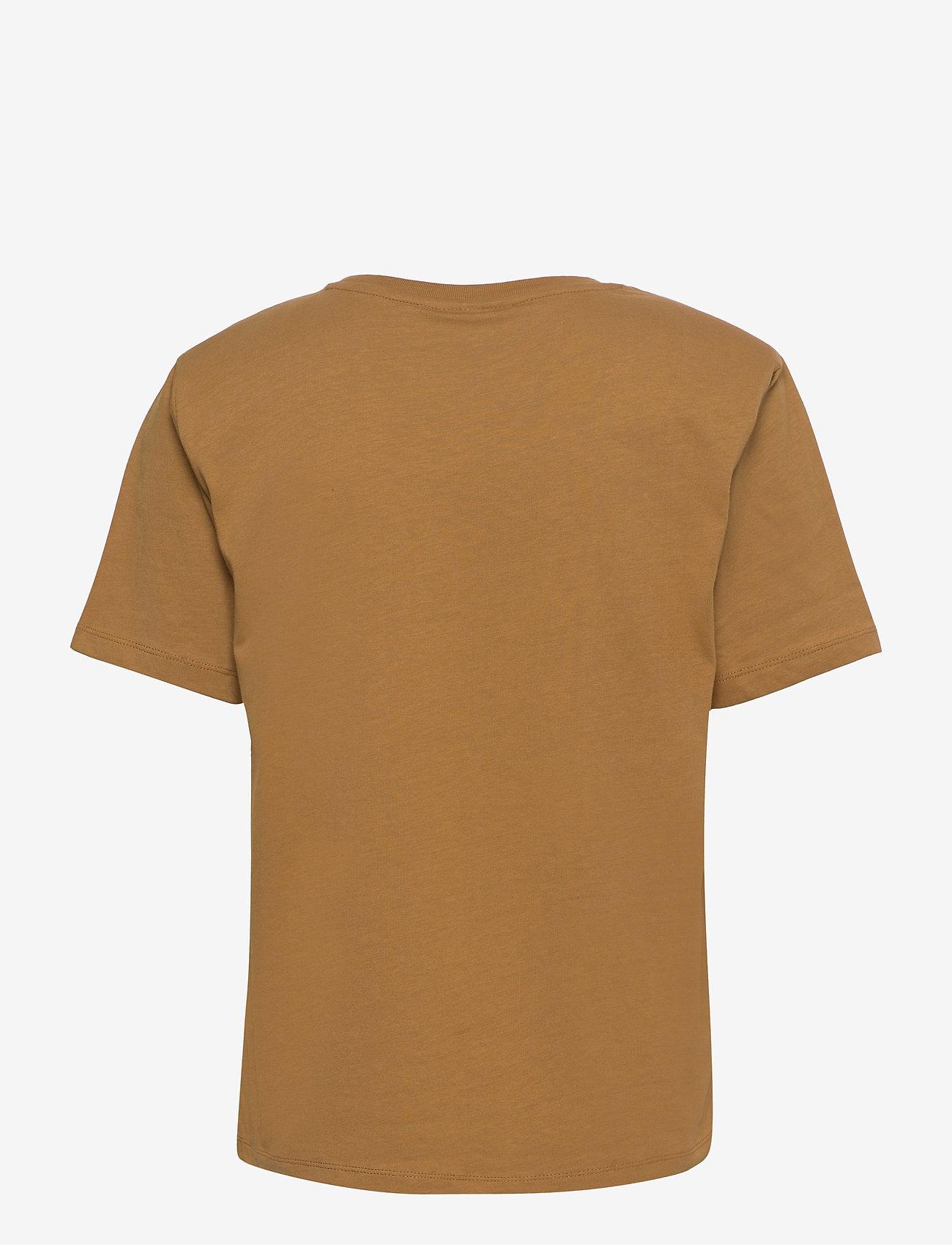 Gestuz - JoryGZ tee - t-shirts - bone brown - 2