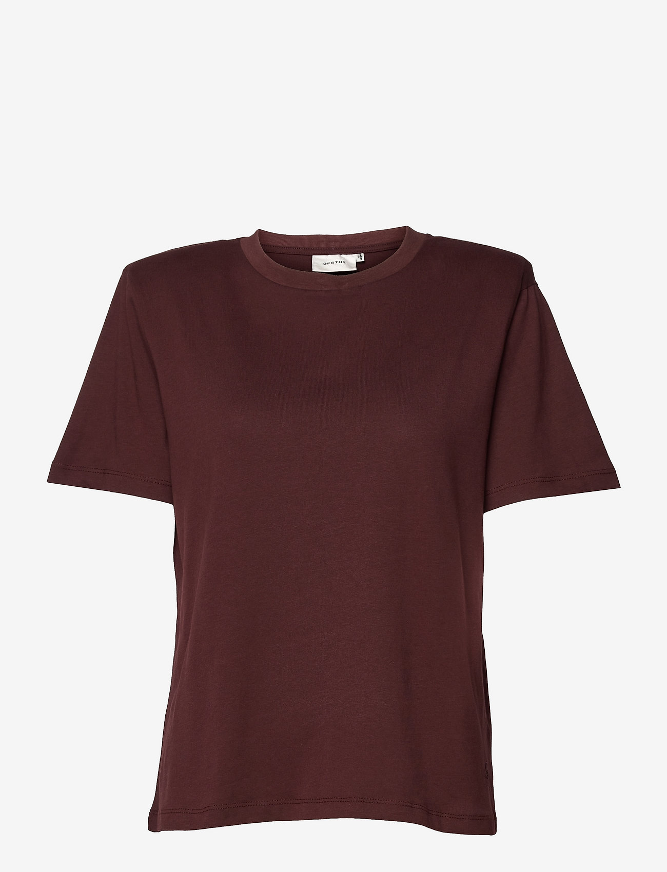 Gestuz - JoryGZ tee - t-shirts - decadent chocolate - 0