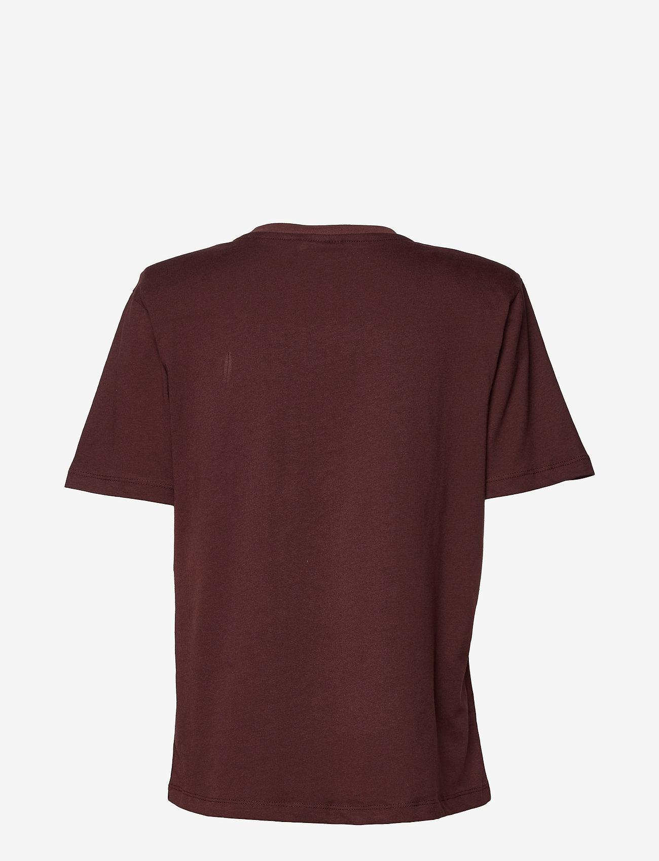 Gestuz - JoryGZ tee - t-shirts - decadent chocolate - 1