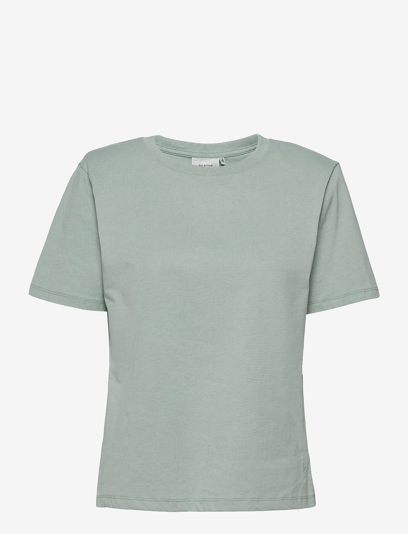 Gestuz - JoryGZ tee - t-shirts - slate gray - 1