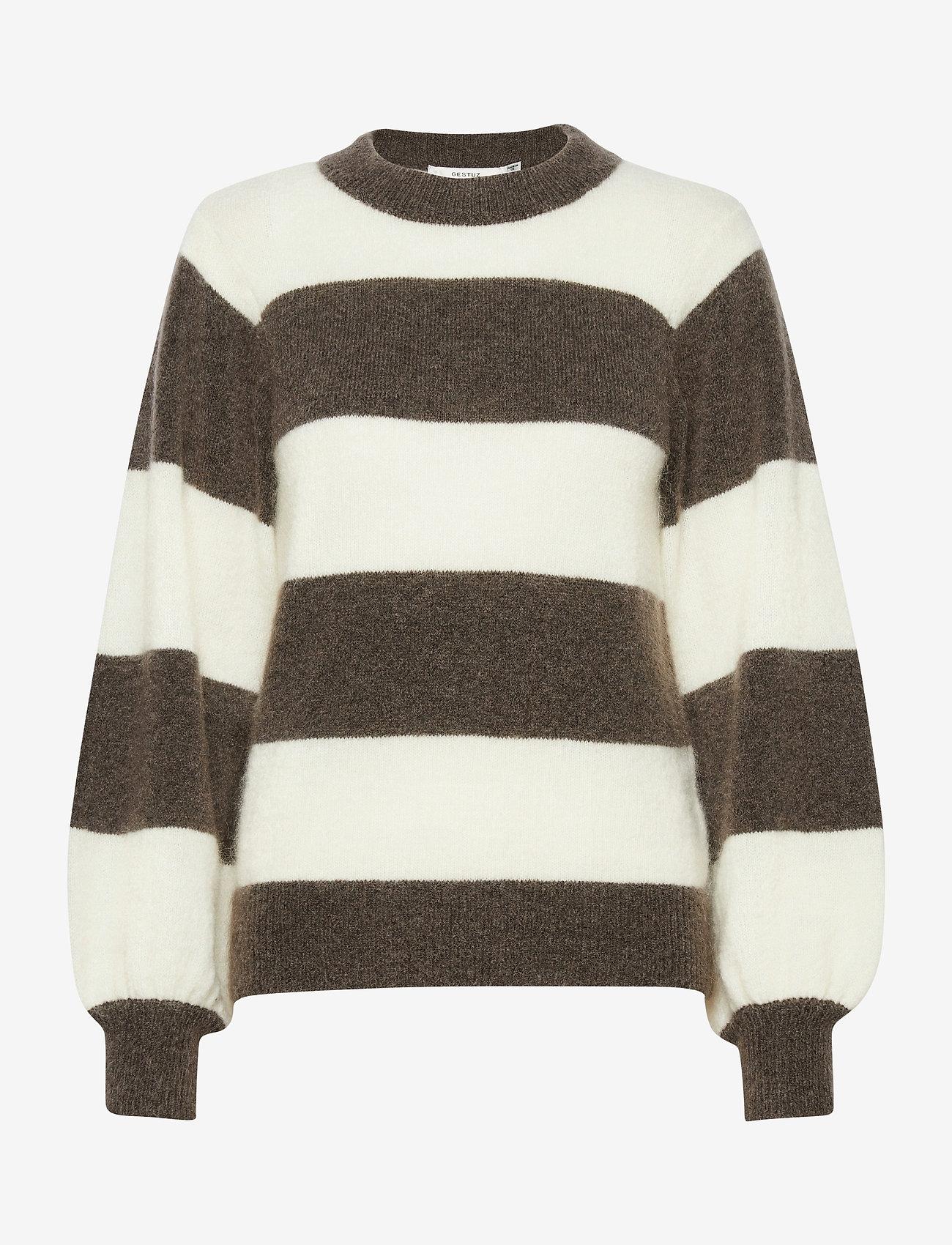 Gestuz - DebbieGZ striped pullover - trøjer - earth - 1