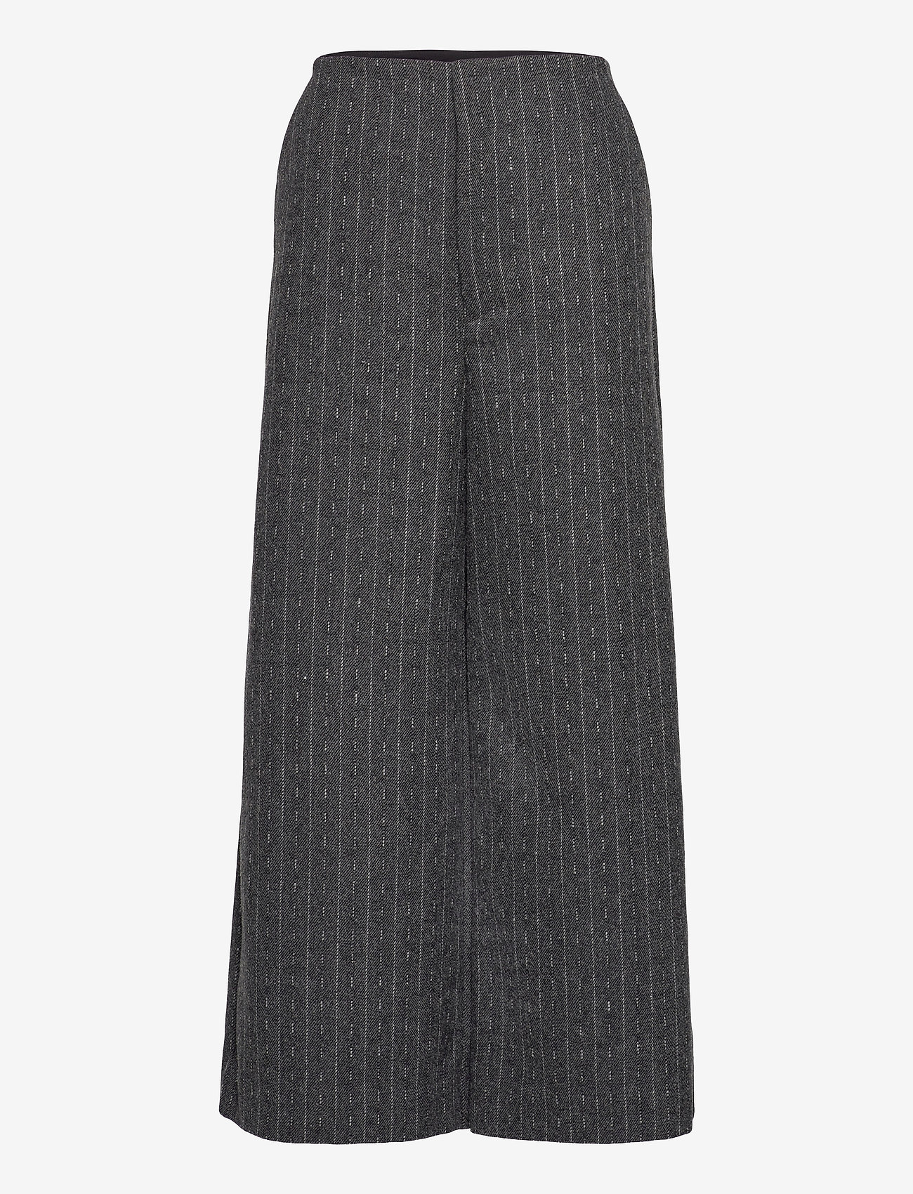 Gestuz - RoyaGZ culotte SO21 - bukser med brede ben - dark grey pinstripe - 1