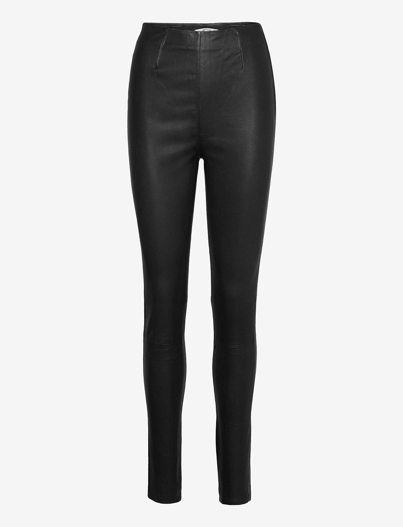 Gestuz - SashaGZ HW leather legging NOOS - læderbukser - black - 1