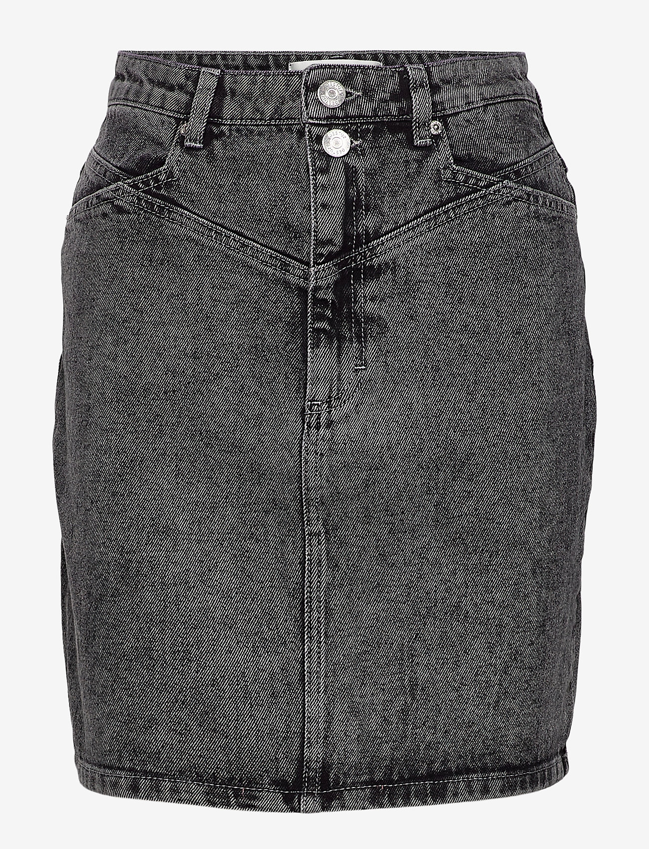 Gestuz - AleahGZ mini skirt SO21 - denimnederdele - storm grey - 1