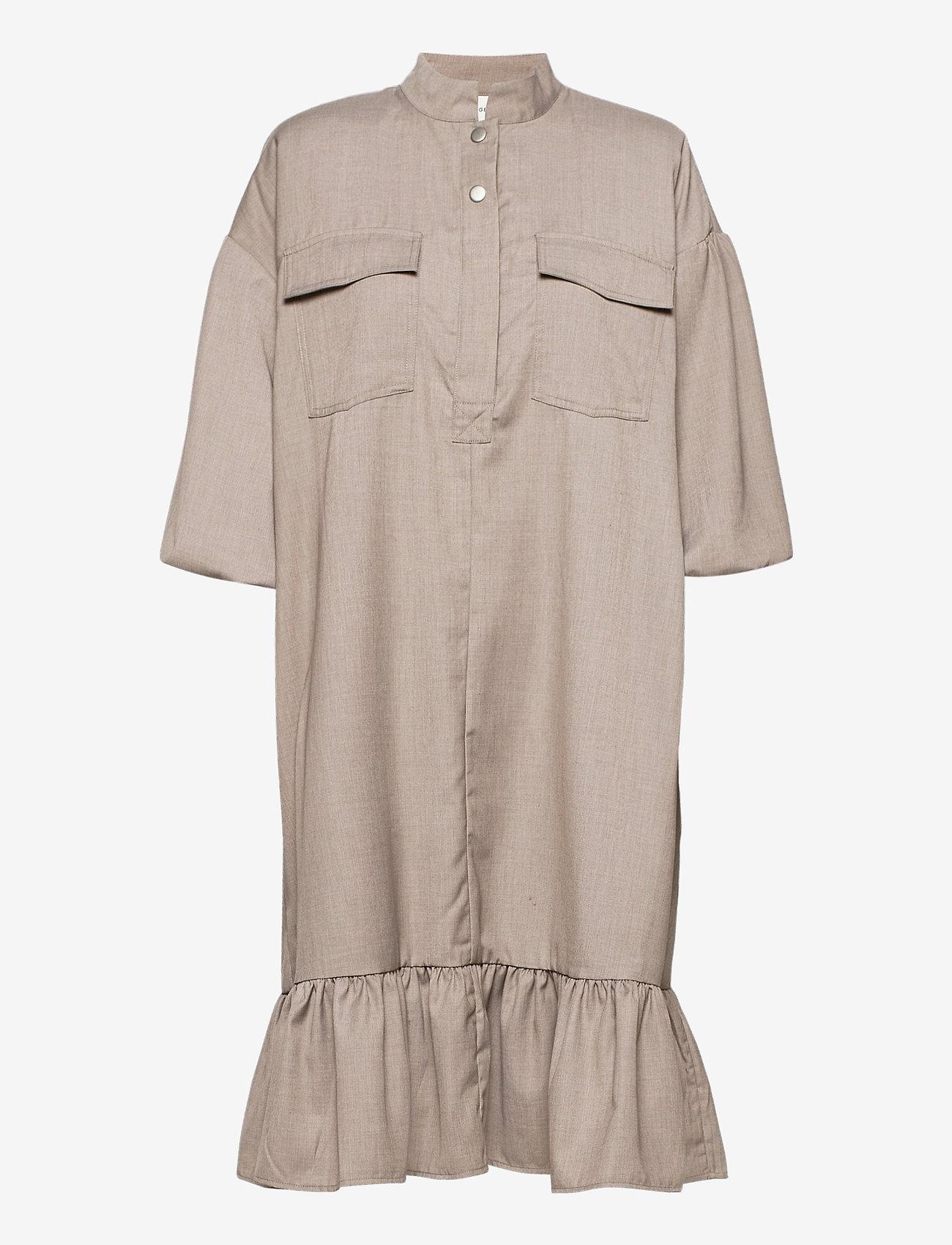 Gestuz - ViraGZ OZ dress SO21 - skjortekjoler - walnut - 1