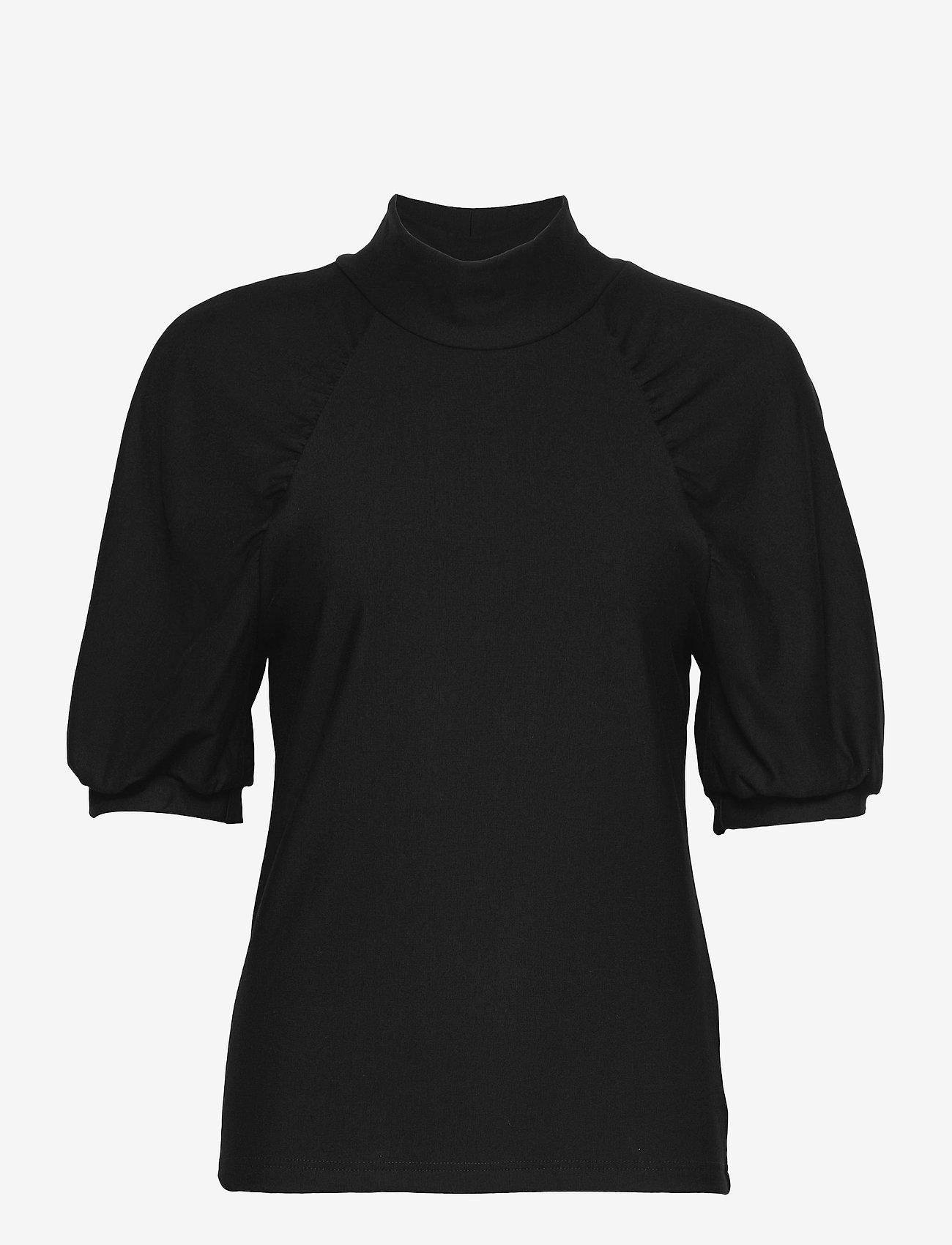 Gestuz - RifaGZ ss turtleneck - kortærmede bluser - black - 1