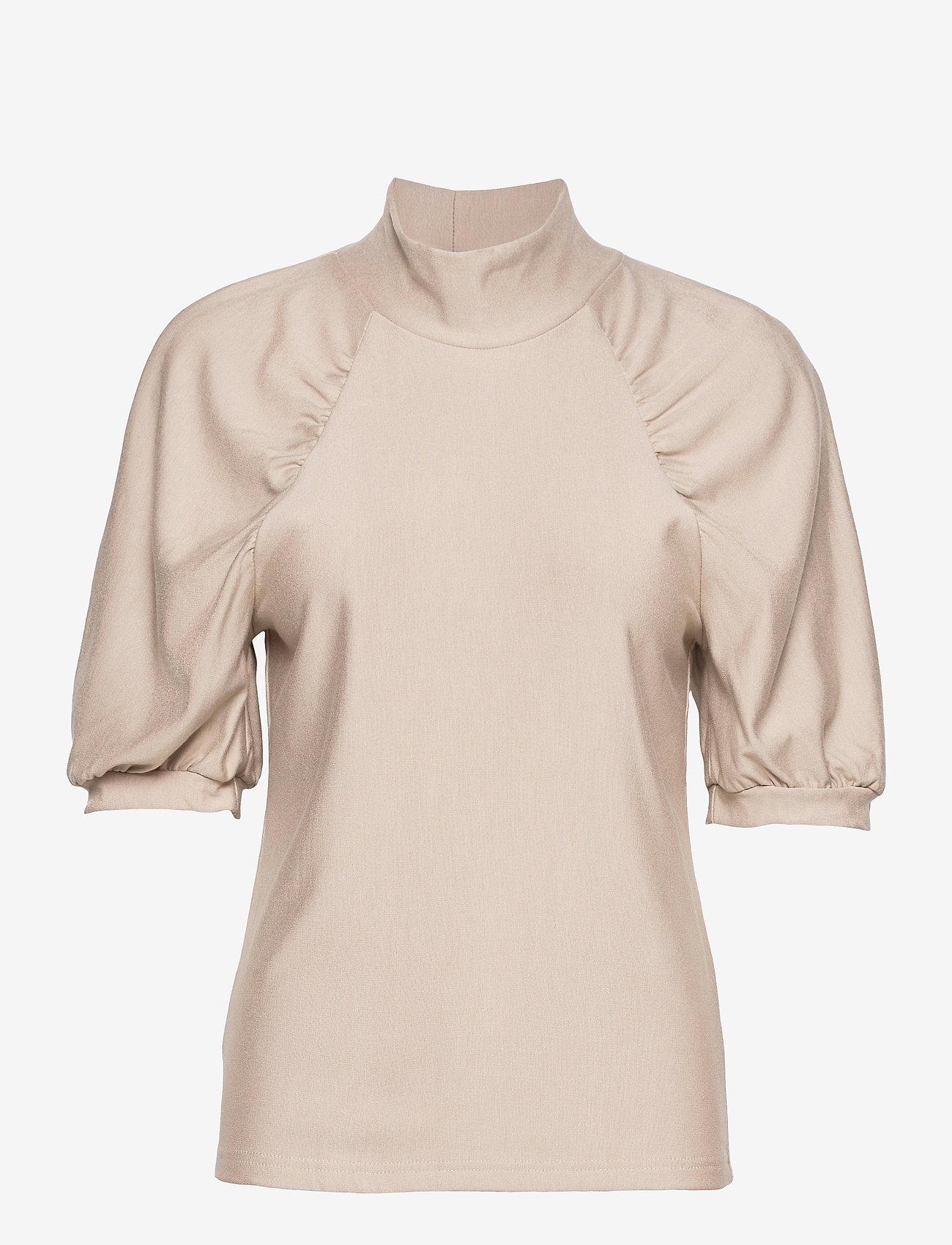 Gestuz - RifaGZ ss turtleneck - kortærmede bluser - pure cashmere - 1