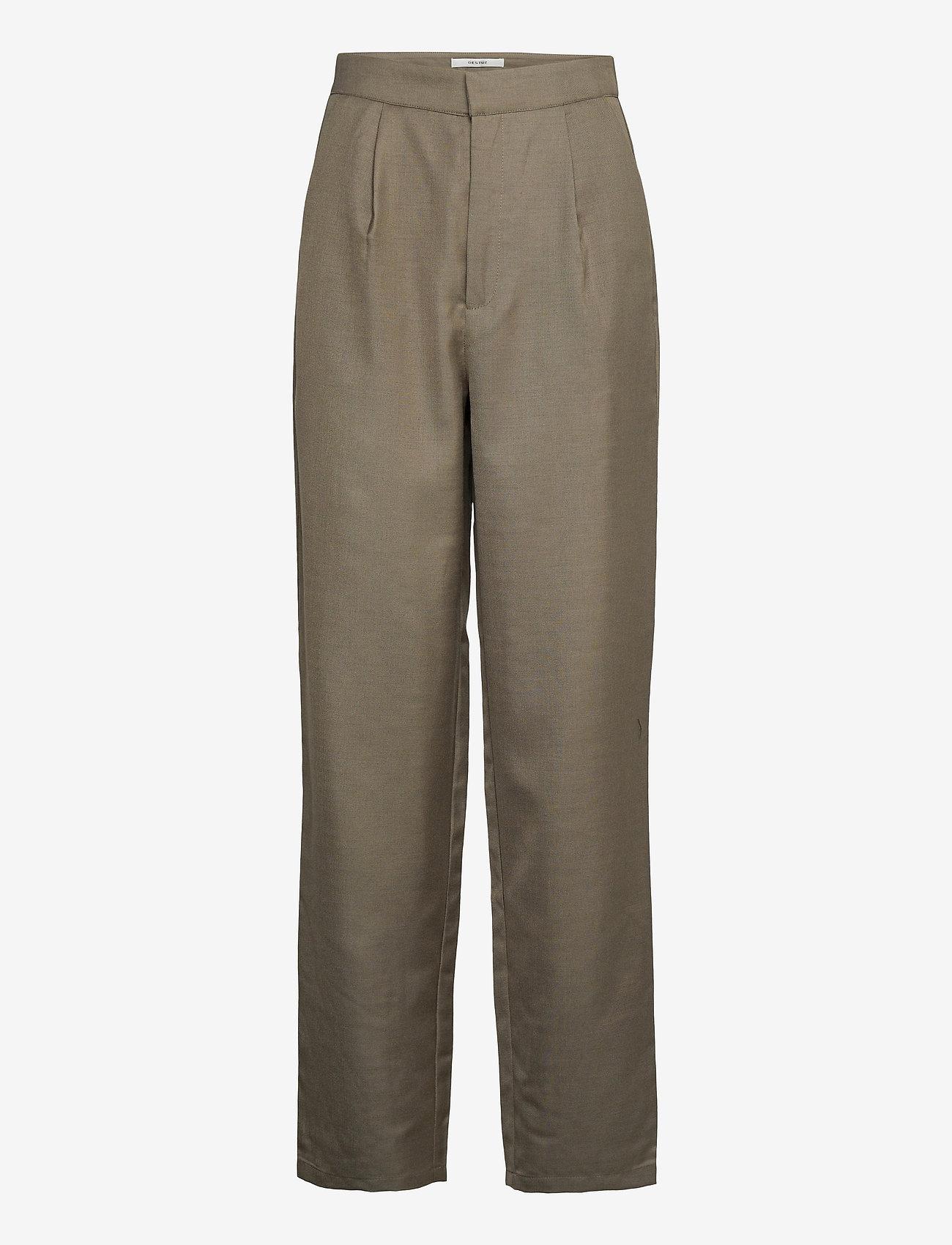 Gestuz - LeejaGZ HW pants MS21 - bukser med lige ben - brindle - 1