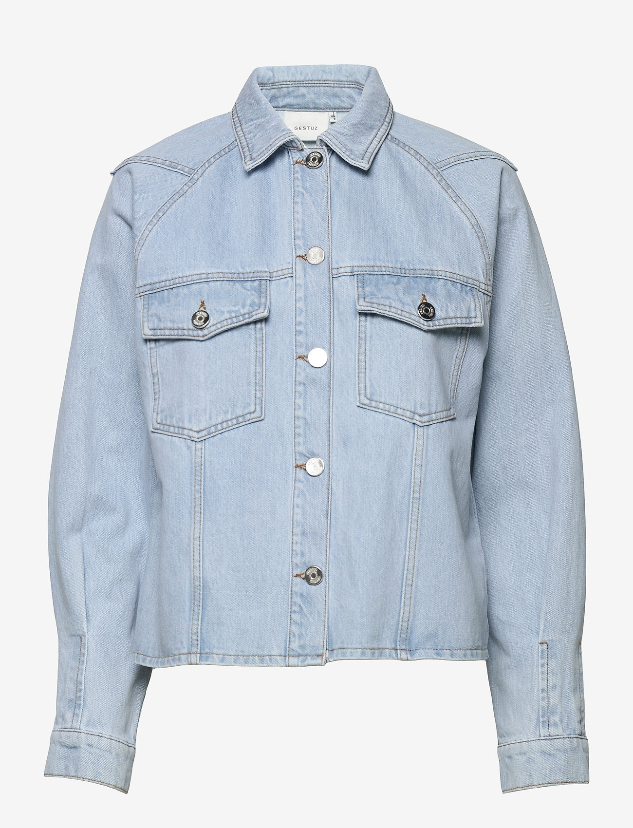 Gestuz - DacyGZ shirt - tøj - light blue vintage - 1