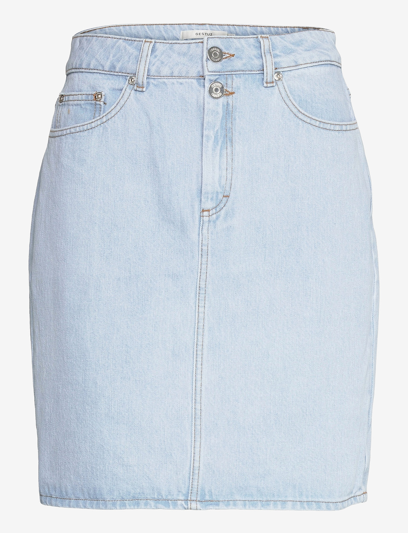 Gestuz - DacyGZ HW skirt - jeanskjolar - light blue vintage - 1