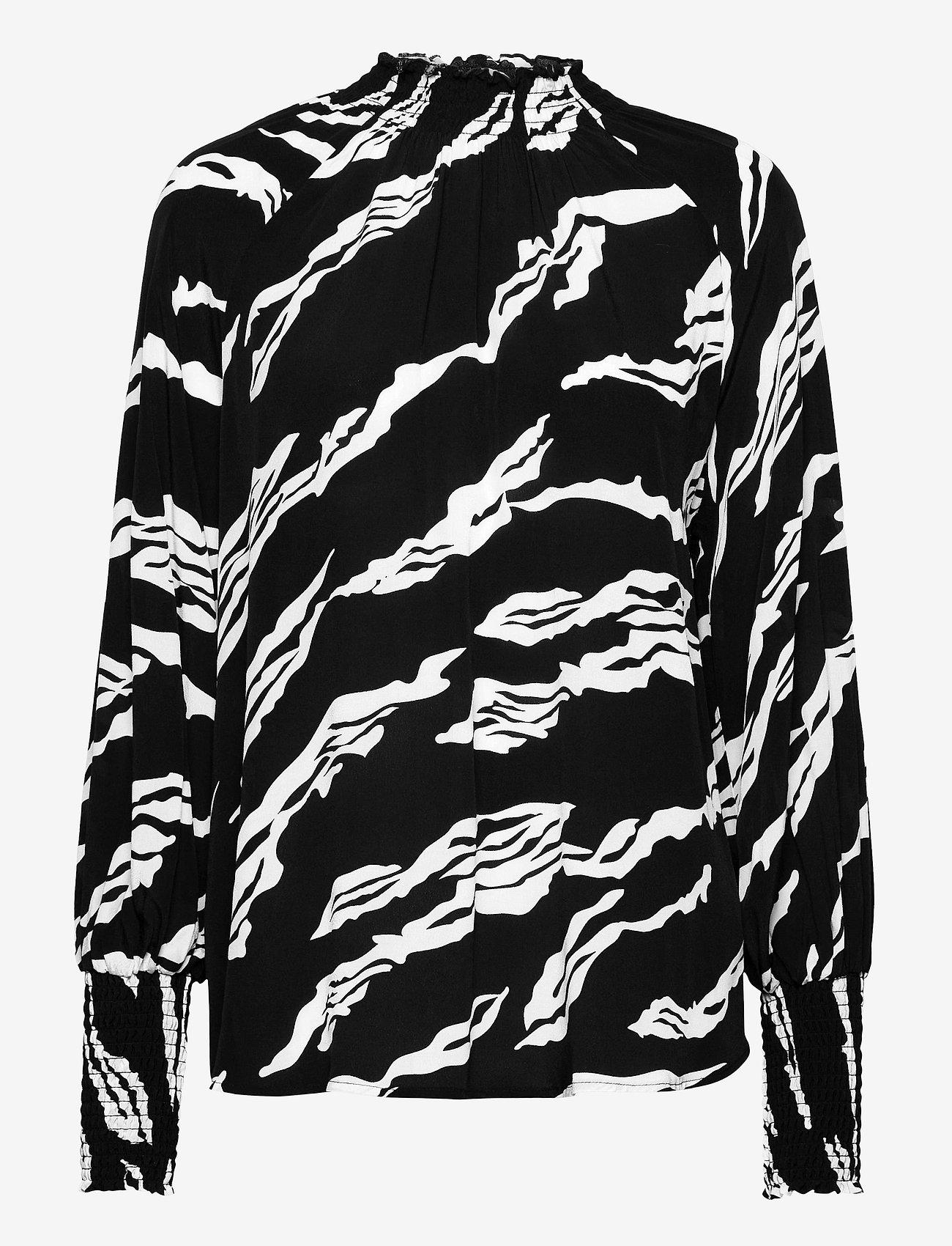 Gestuz - ZohaGZ blouse MS21 - langærmede bluser - black scratch - 1