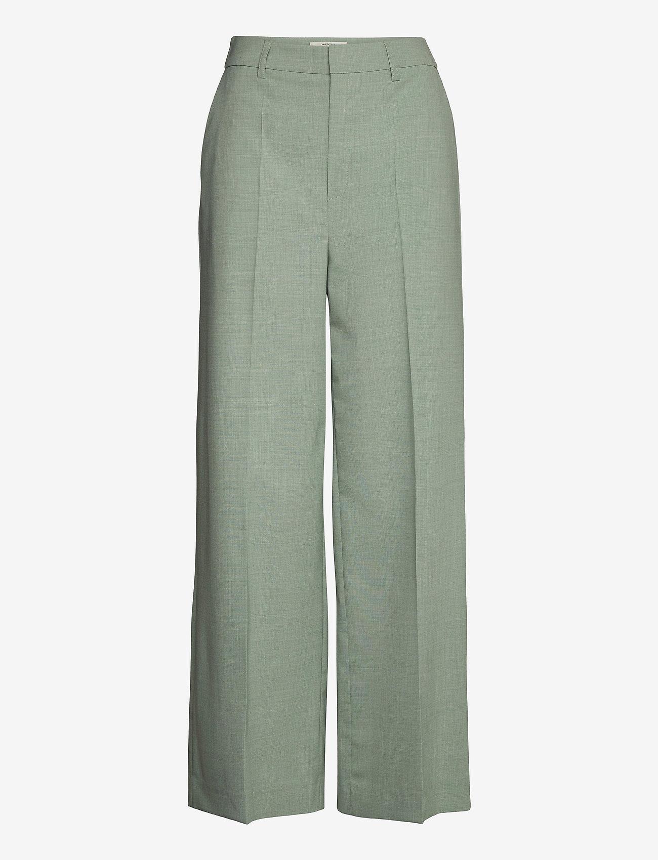 Gestuz - AmaliGZ HW wide pants - bukser med brede ben - slate gray - 1