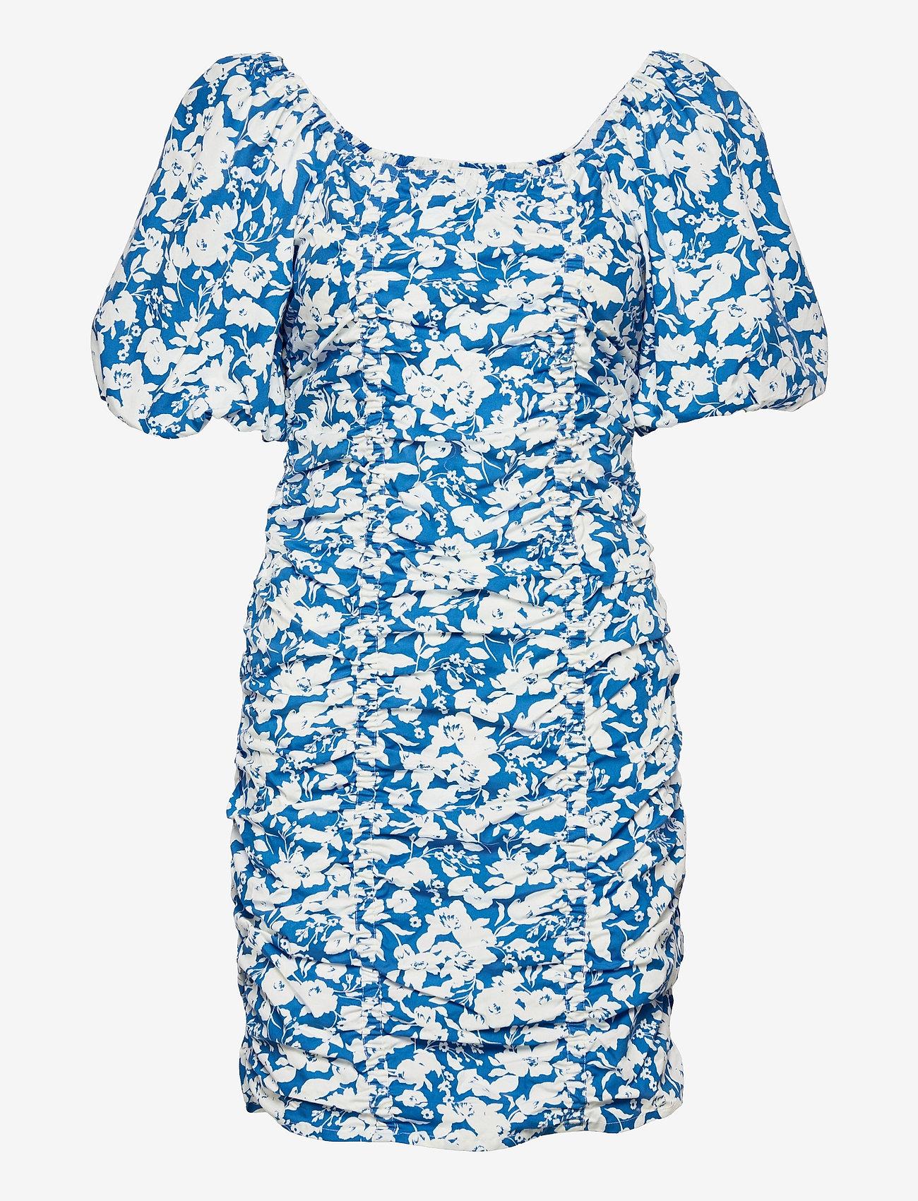 Gestuz - MynteGZ short dress - sommerkjoler - blue flower - 1