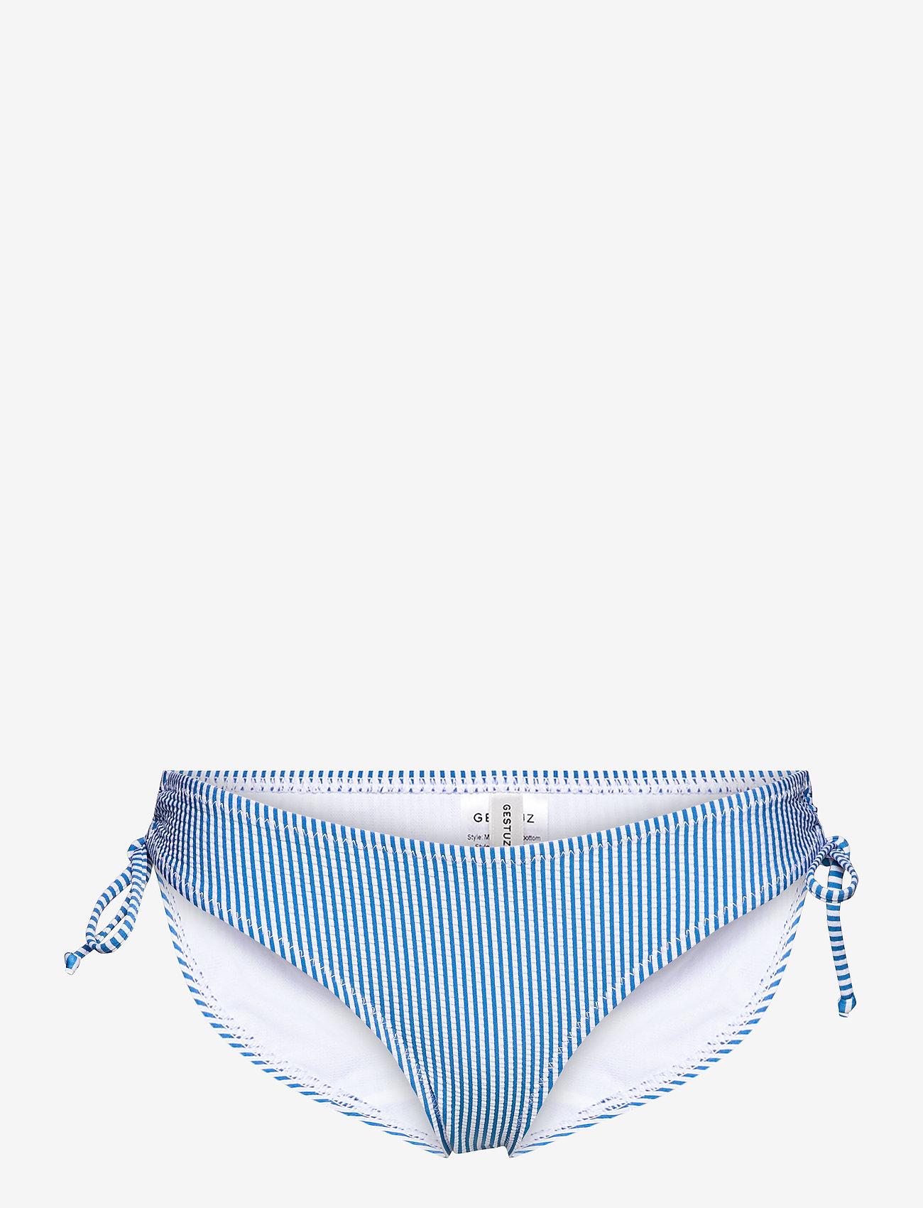 Gestuz - MyoGZ bikini bottom - bikini underdele - blue stripes - 0