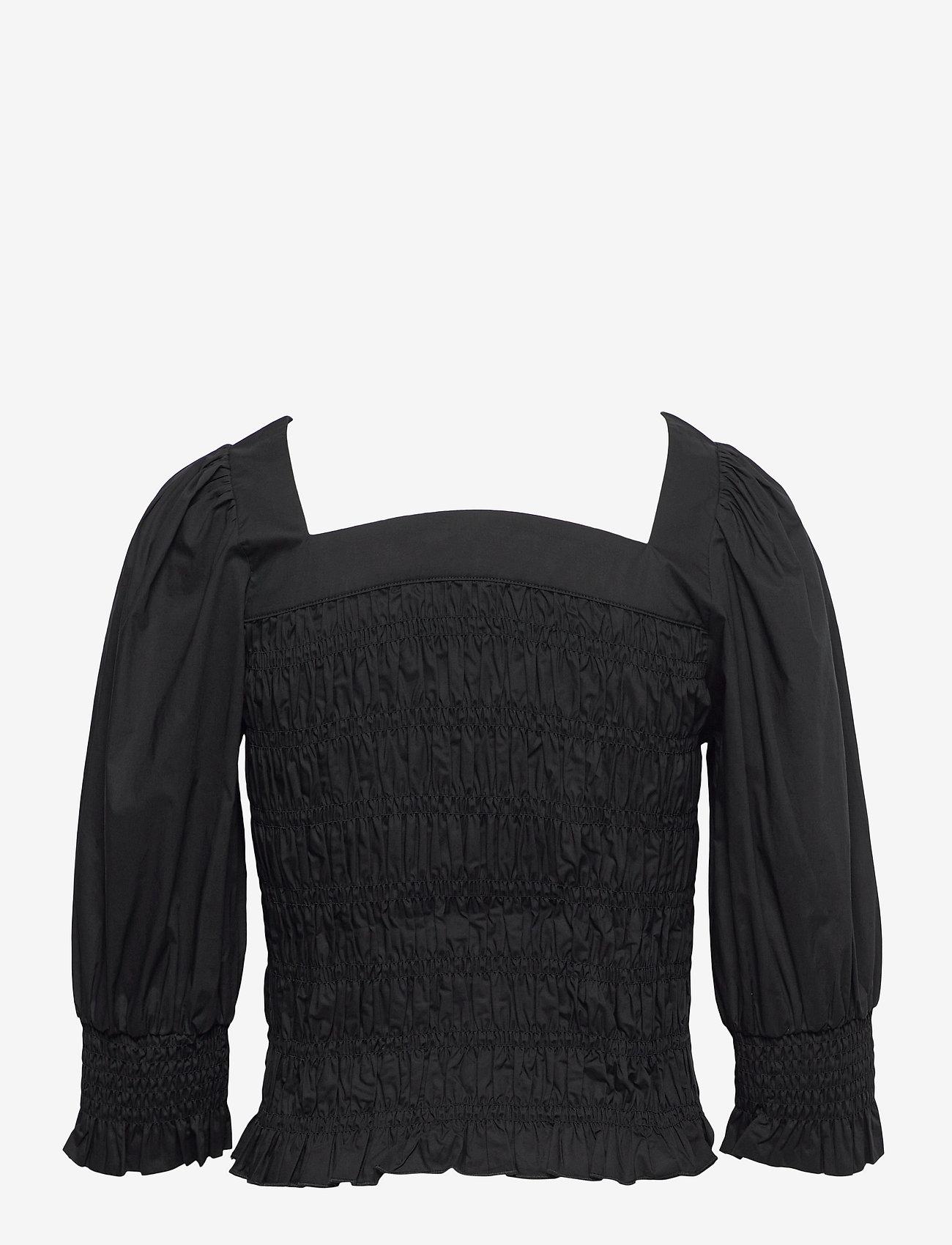 Gestuz - LenaGZ blouse - langærmede bluser - black - 2
