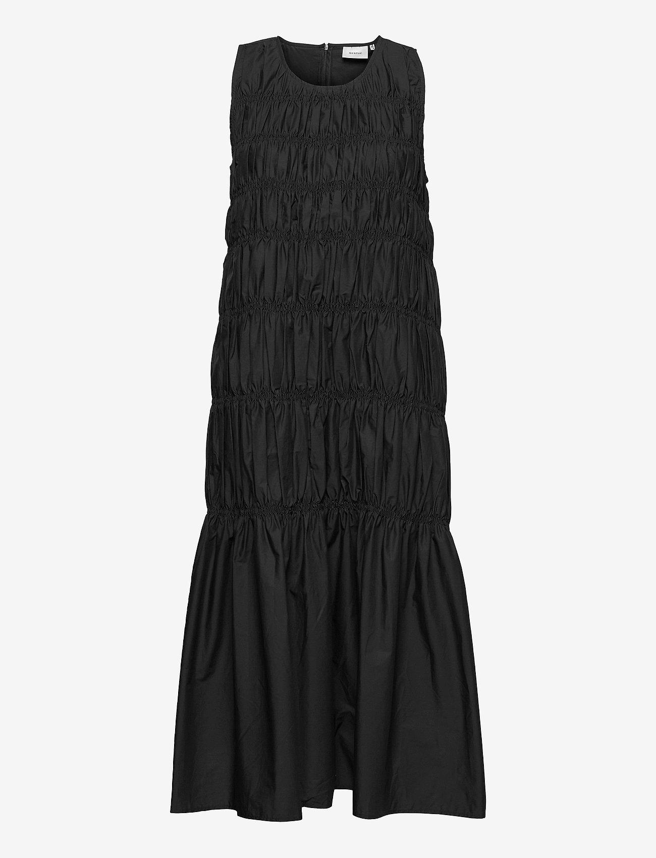 Gestuz - LenaGZ long dress - sommerkjoler - black - 0