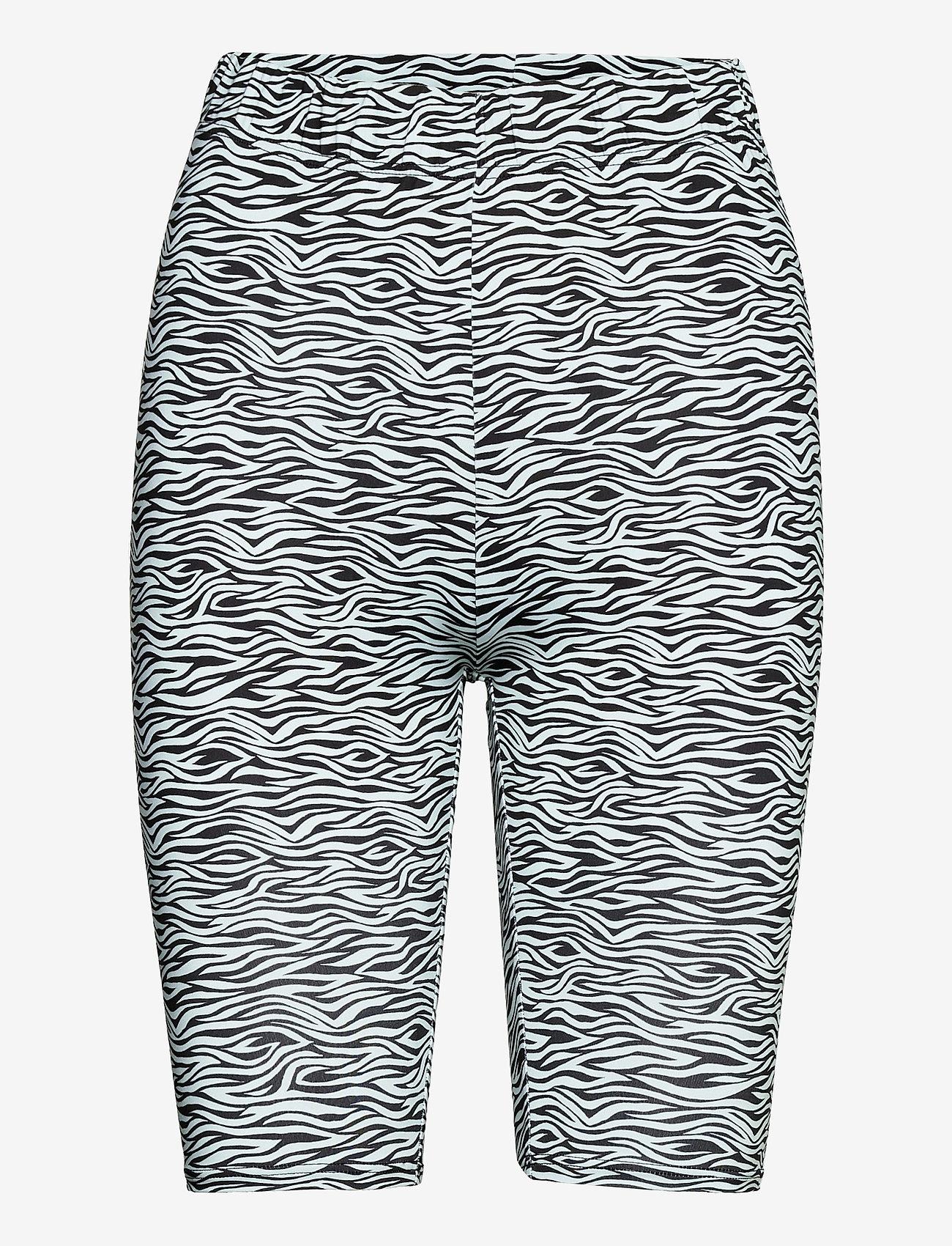 Gestuz - PiloGZ MW printed short tights - cykelshorts - grey wave - 1