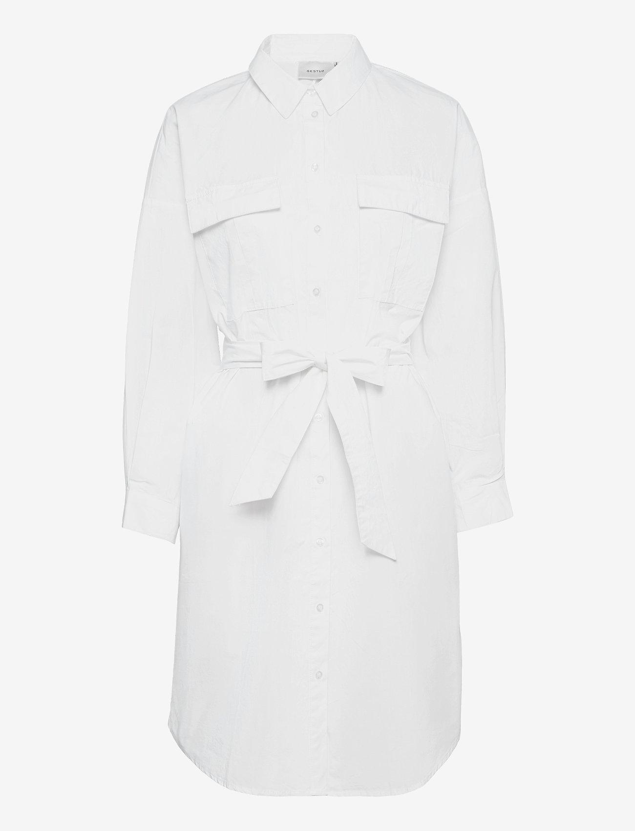 Gestuz - HalioGZ OZ shirt dress - hverdagskjoler - bright white - 1