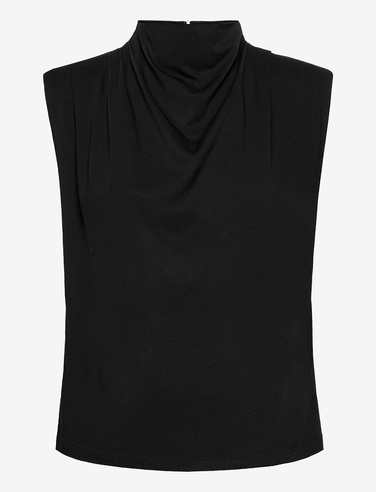 Gestuz - BertaGZ sl blouse - Ærmeløse bluser - black - 1