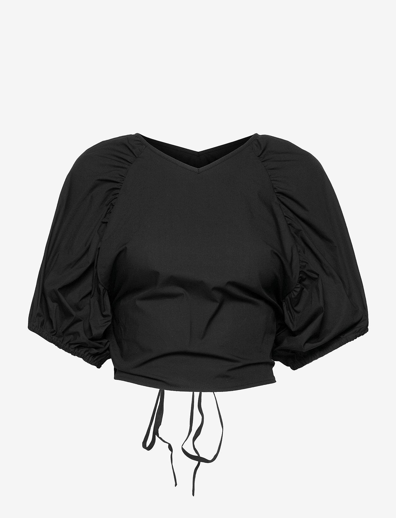 Gestuz - SvalaGZ top - kortærmede bluser - black - 1