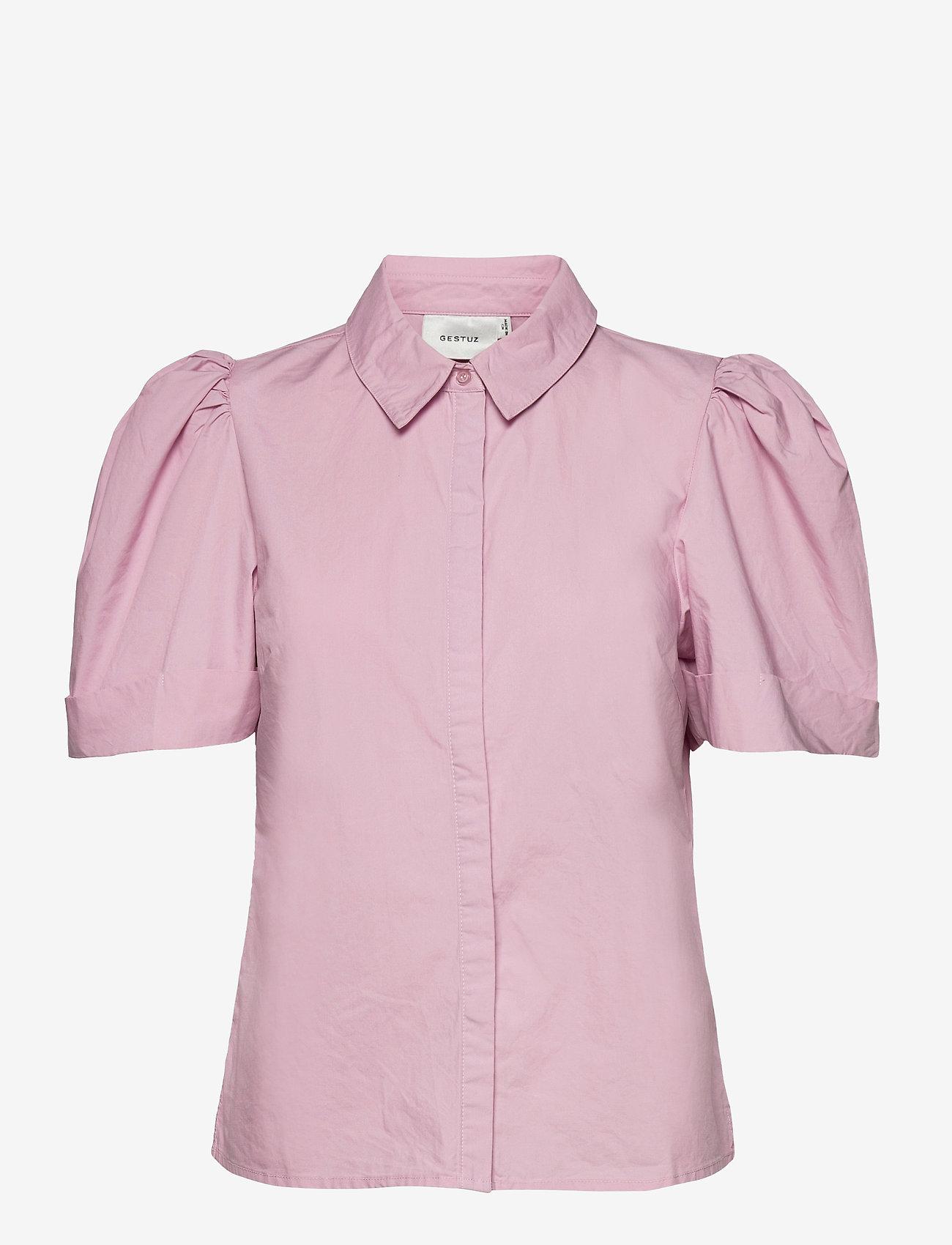 Gestuz - HalioGZ ss shirt - denimskjorter - fragrant lilac - 1