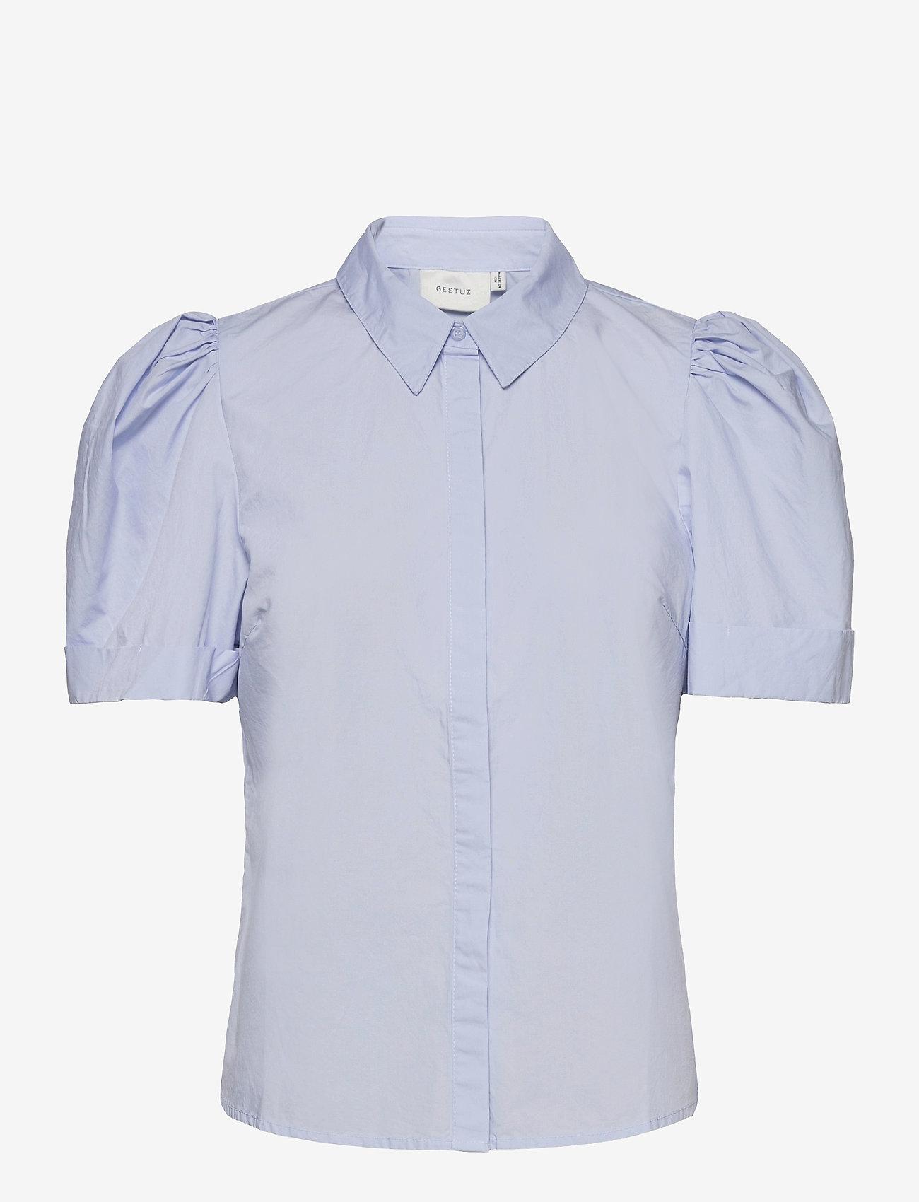 Gestuz - HalioGZ ss shirt - denimskjorter - xenon blue - 1