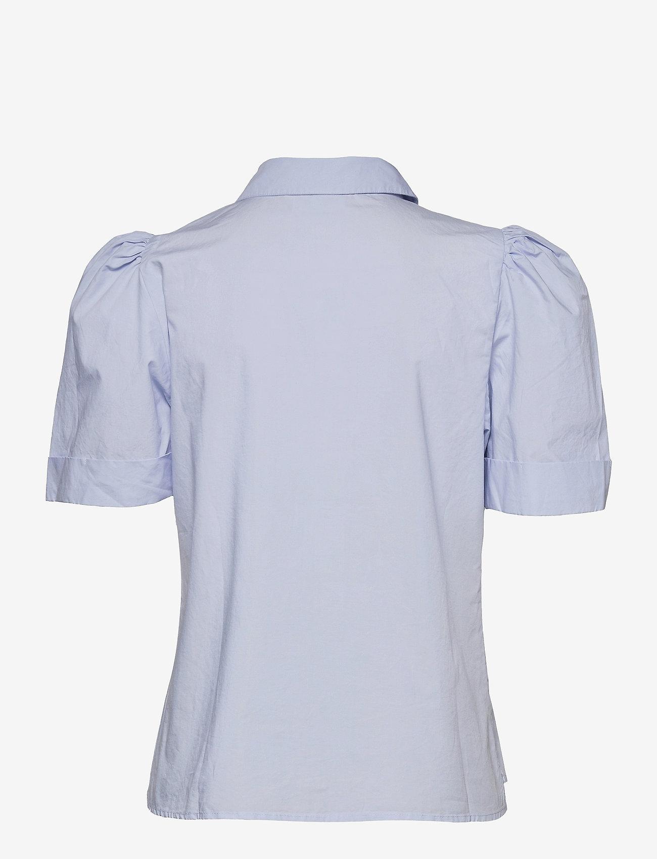 Gestuz - HalioGZ ss shirt - denimskjorter - xenon blue - 2