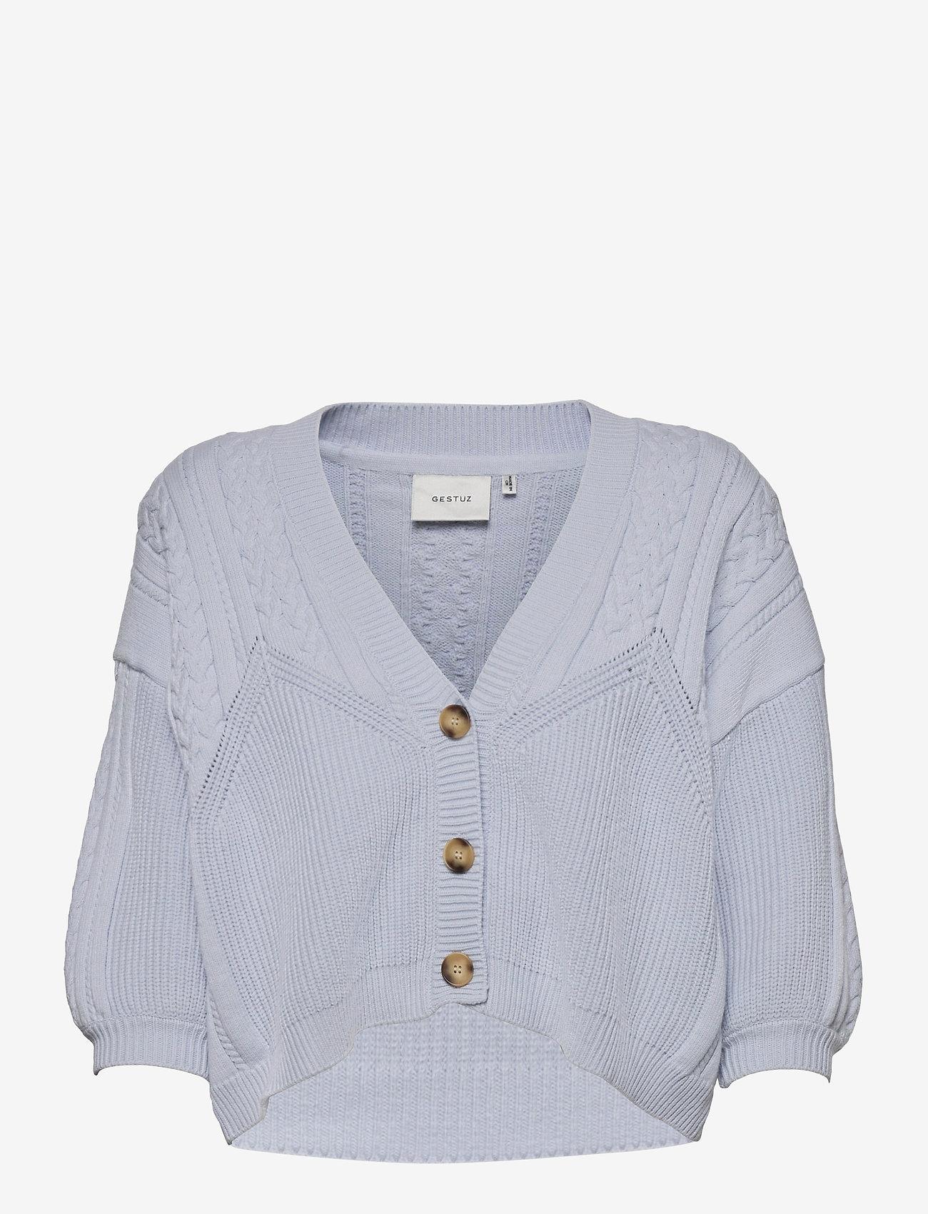 Gestuz - SoleyGZ cardigan - cardigans - xenon blue - 1